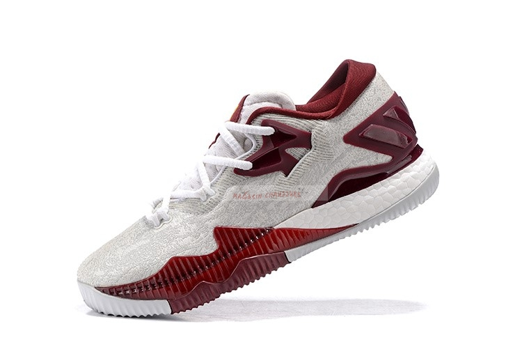 Adidas Crazylight Boost Blanc Rouge Chaussure de Basket