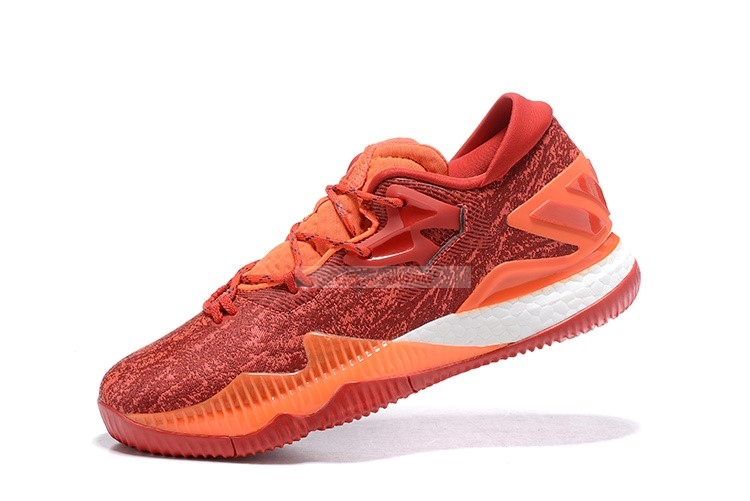 Adidas Crazylight Boost Rouge Orange Blanc Chaussure de Basket