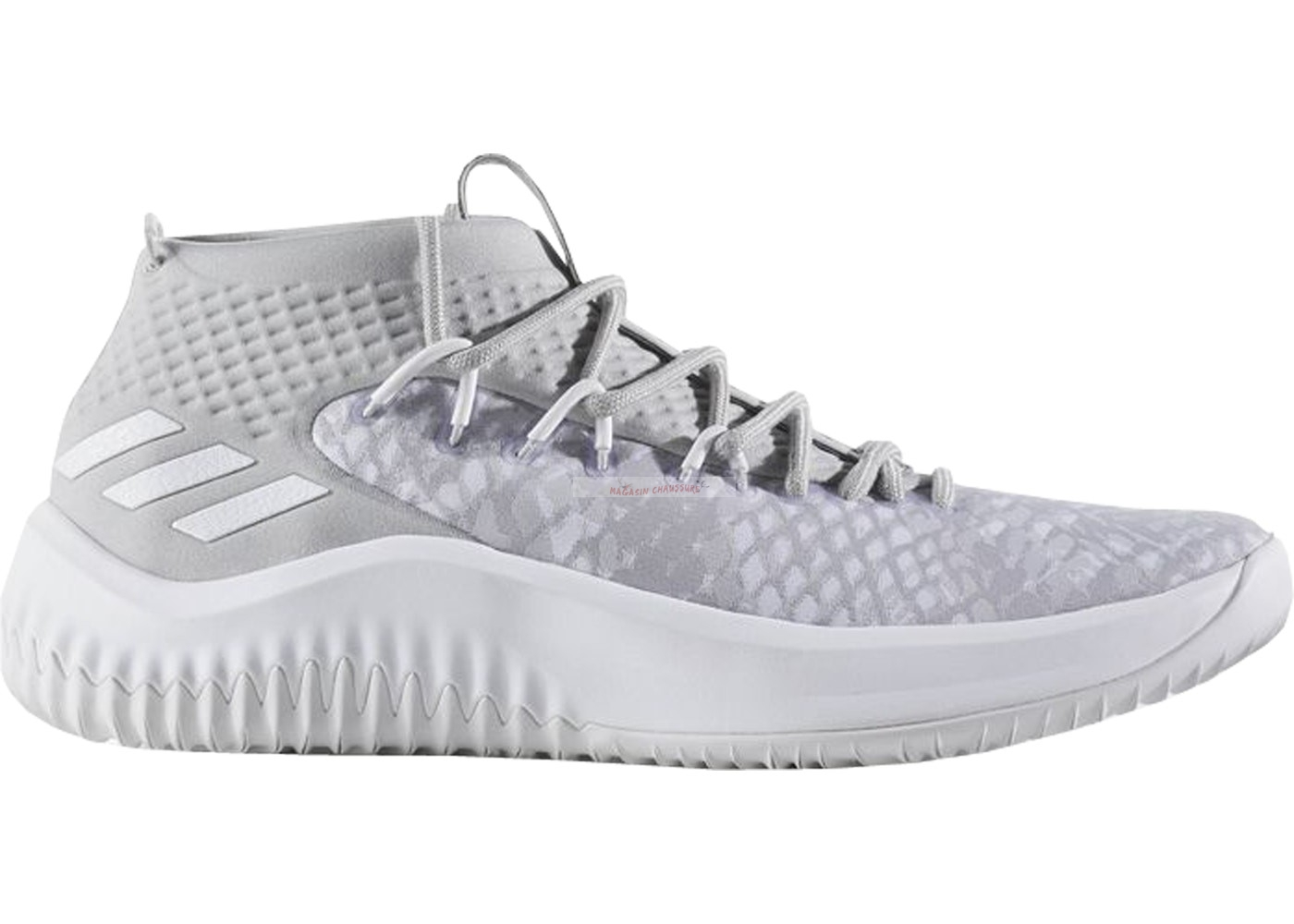 "Adidas Damian Lillard Iv 4 ""Start To Finish"" Blanc (by4495) Chaussure de Basket"
