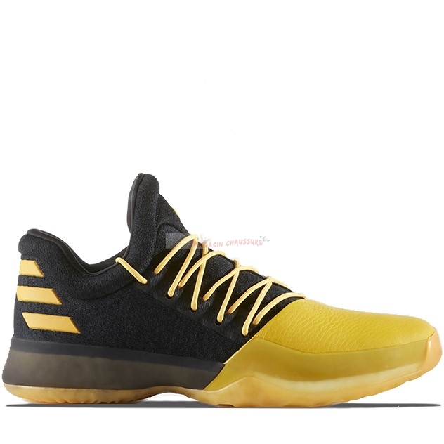 "Adidas Harden Vol 1 ""Feat The Fork"" Noir Jaune (bw0548) Chaussure de Basket"