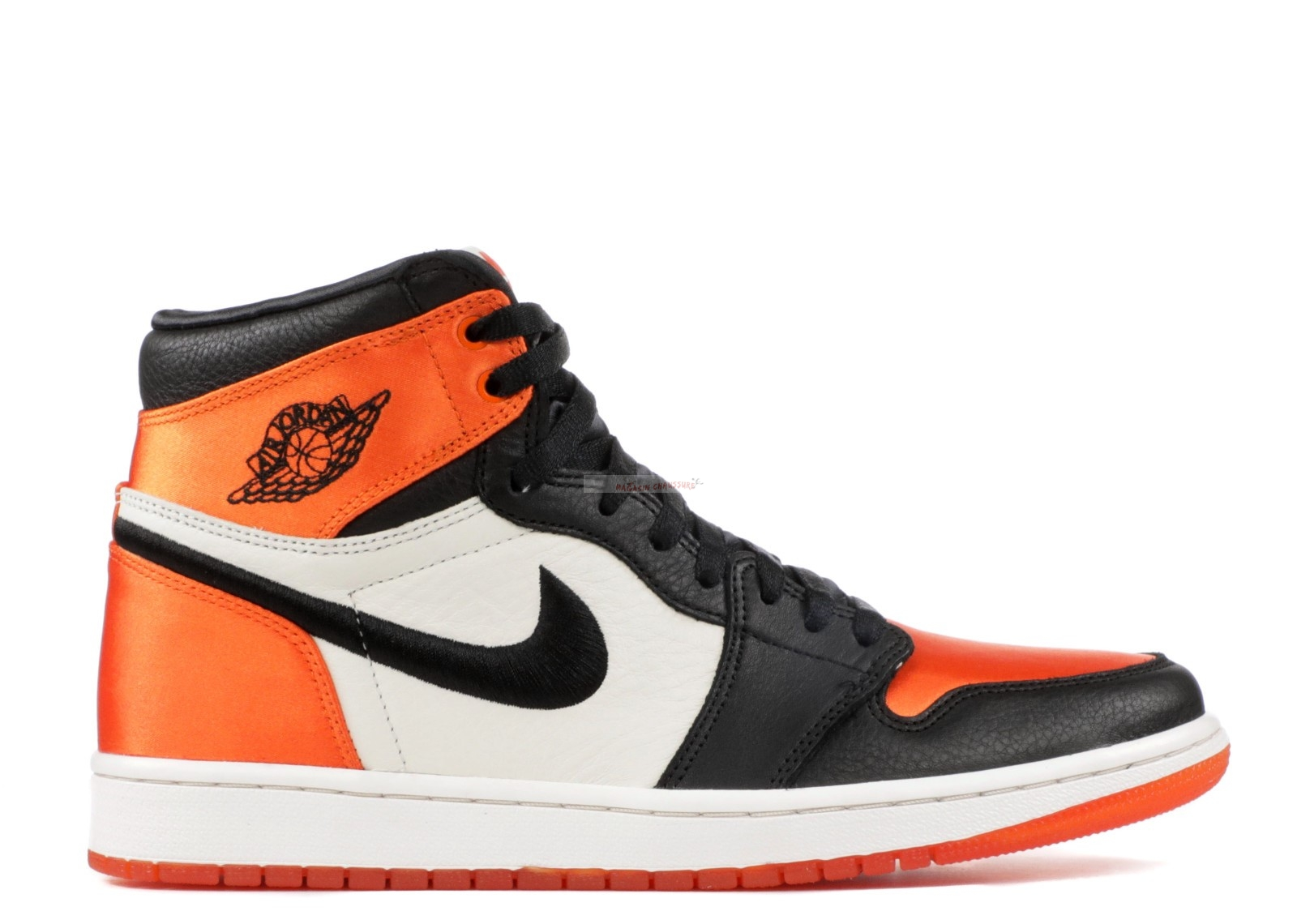 "Air Jordan 1 - Femme Re High Og Sl ""Satin Shattered Backboard"" Noir Orange (av3725-010) Chaussure de Basket"