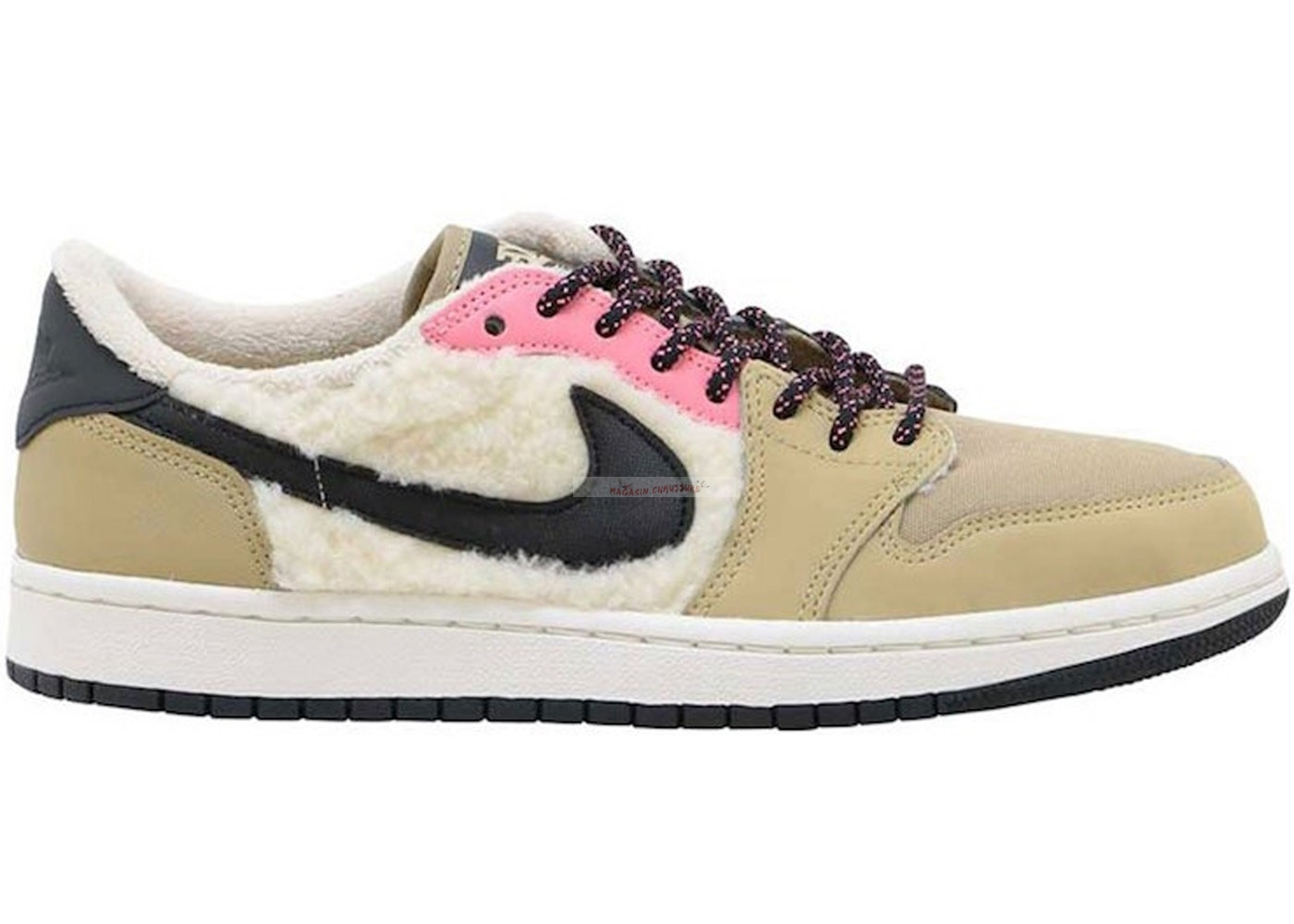 Air Jordan 1 - Femme Retro Low Utility Pack Beige (aq0828-200) Chaussure de Basket