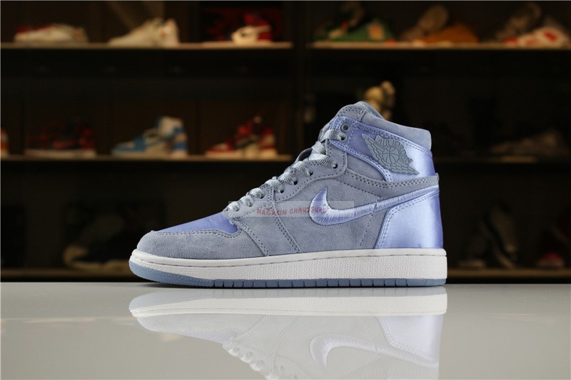 "Air Jordan 1 - Femme ""Summer Of High"" Bleu Blanc Chaussure de Basket"