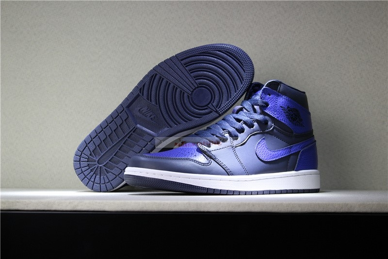 Air Jordan 1 Retro 6 Rings Bleu Chaussure de Basket