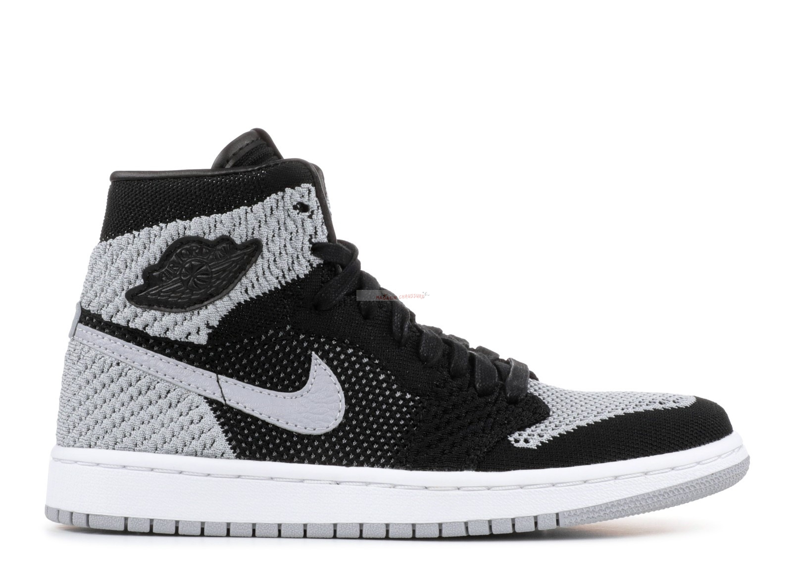 "Air Jordan 1 Retro High Flyknit Bg ""Shadow"" Noir Gris (919702-003) Chaussure de Basket"