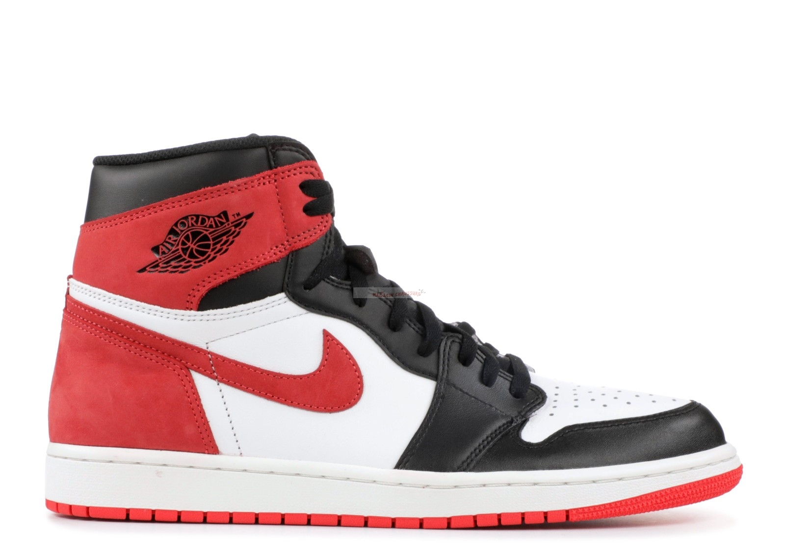 "Air Jordan 1 Retro High Og ""6 Rings"" Rouge (555088-112) Chaussure de Basket"