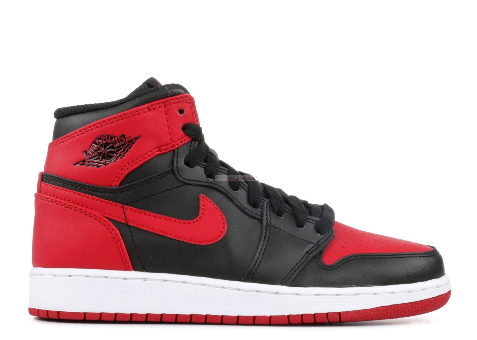 "Air Jordan 1 Retro High Og Bg (Gs) ""Bred"" Noir Rouge (575441-023) Chaussure de Basket"
