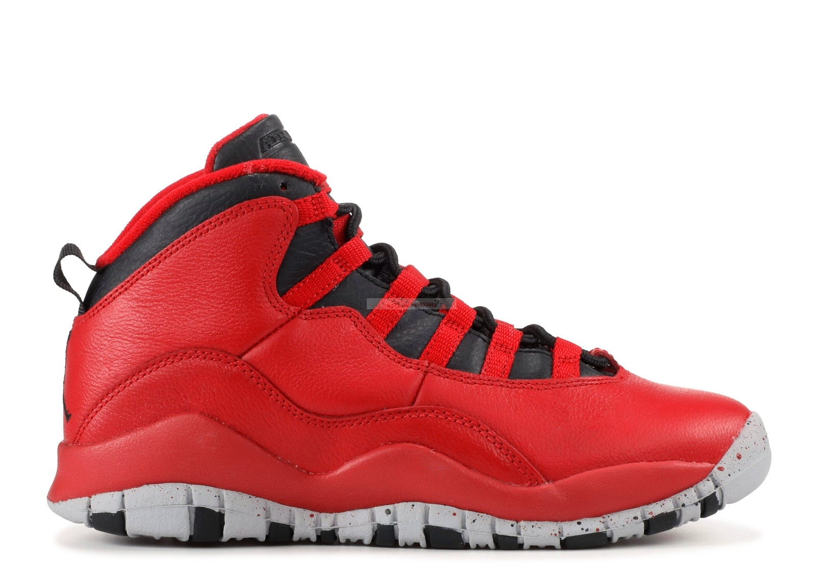 "Air Jordan 10 Retro 30Th (Gs) ""Bulls Over Broadway"" Rouge Noir (705179-601) Chaussure de Basket"