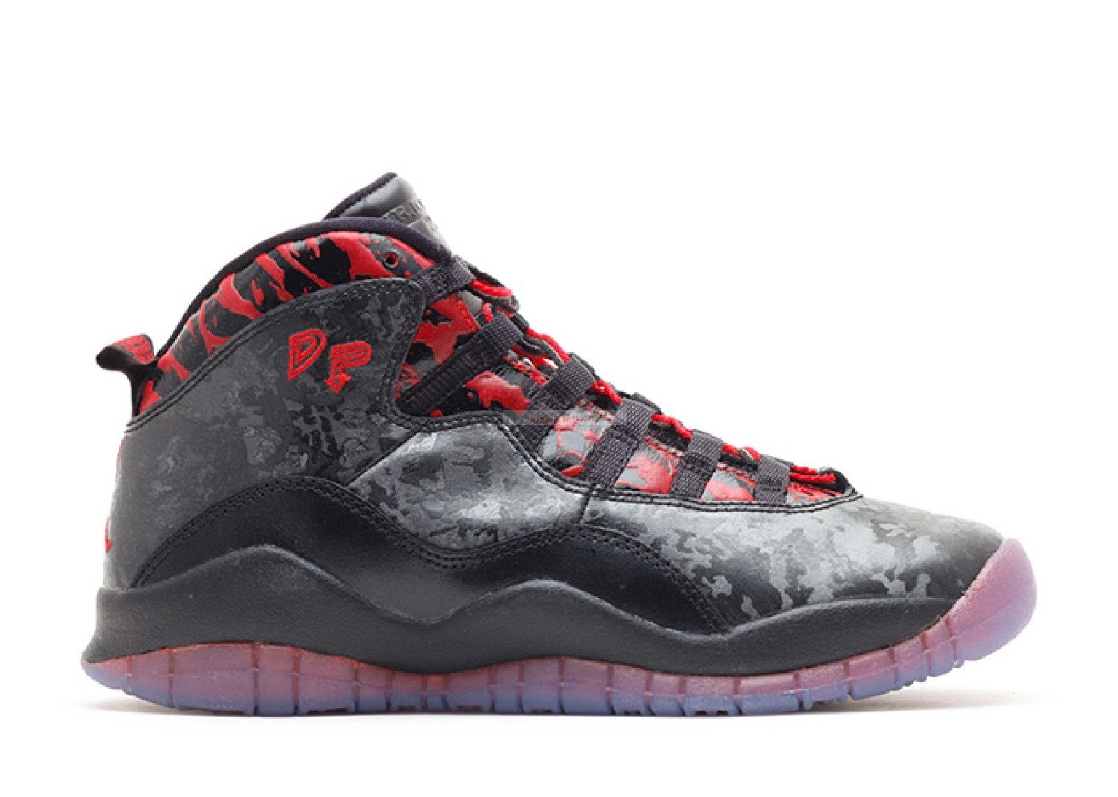 "Air Jordan 10 Retro Db (Gs) ""Doernbecher"" Noir Rouge (641746-060) Chaussure de Basket"