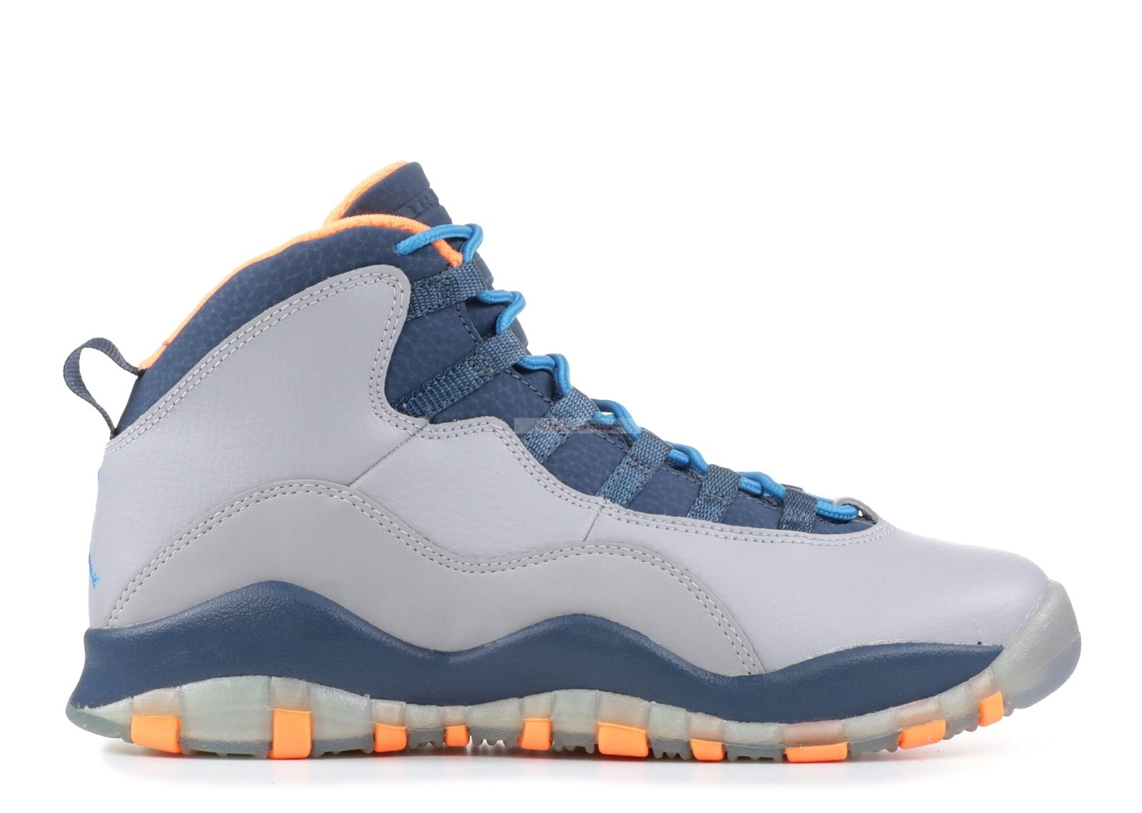 "Air Jordan 10 Retro (Gs) ""Bobcats"" Gris Marine (310806-026) Chaussure de Basket"