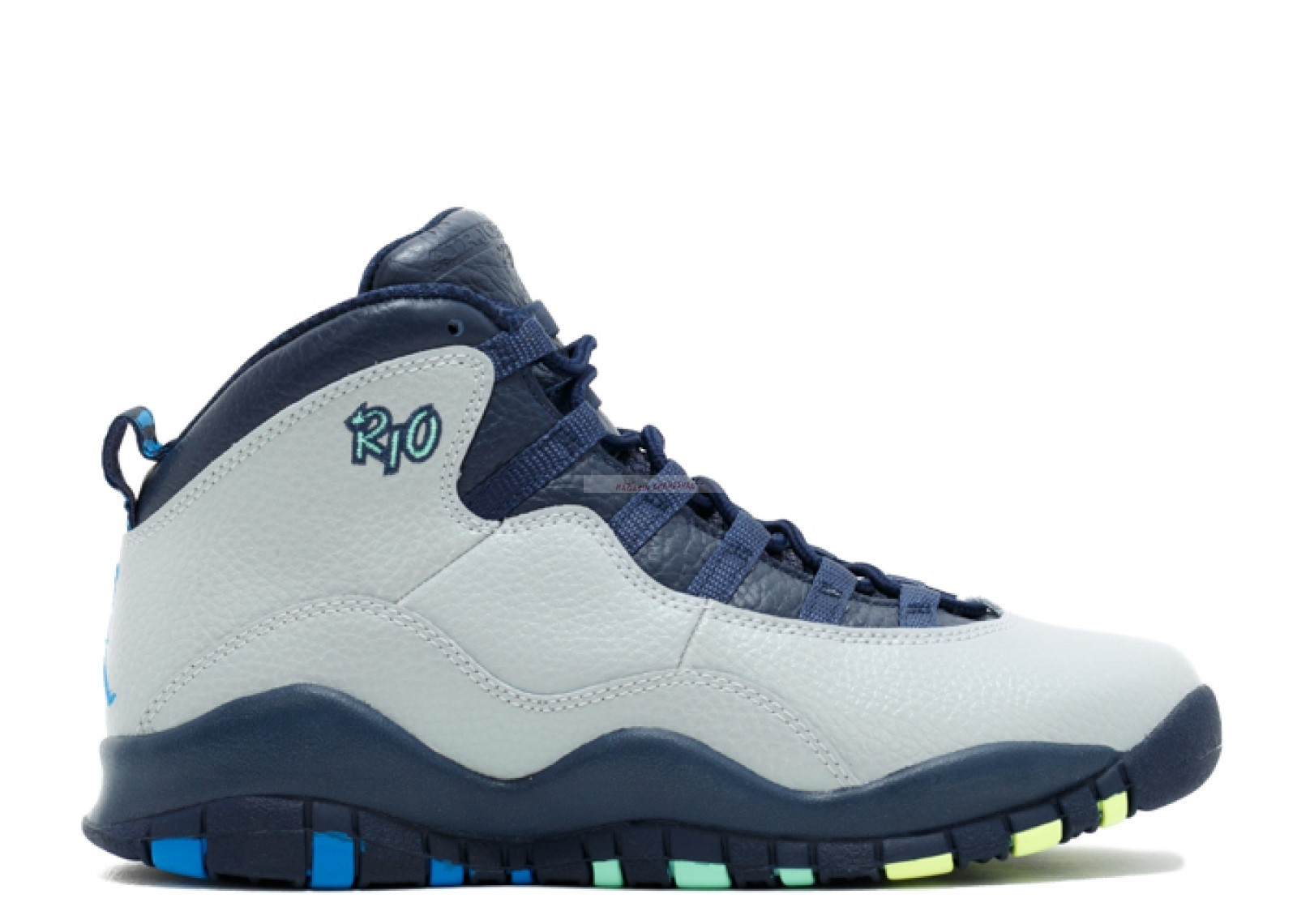 "Air Jordan 10 Retro (Gs) ""Rio"" Gris (310806-019) Chaussure de Basket"