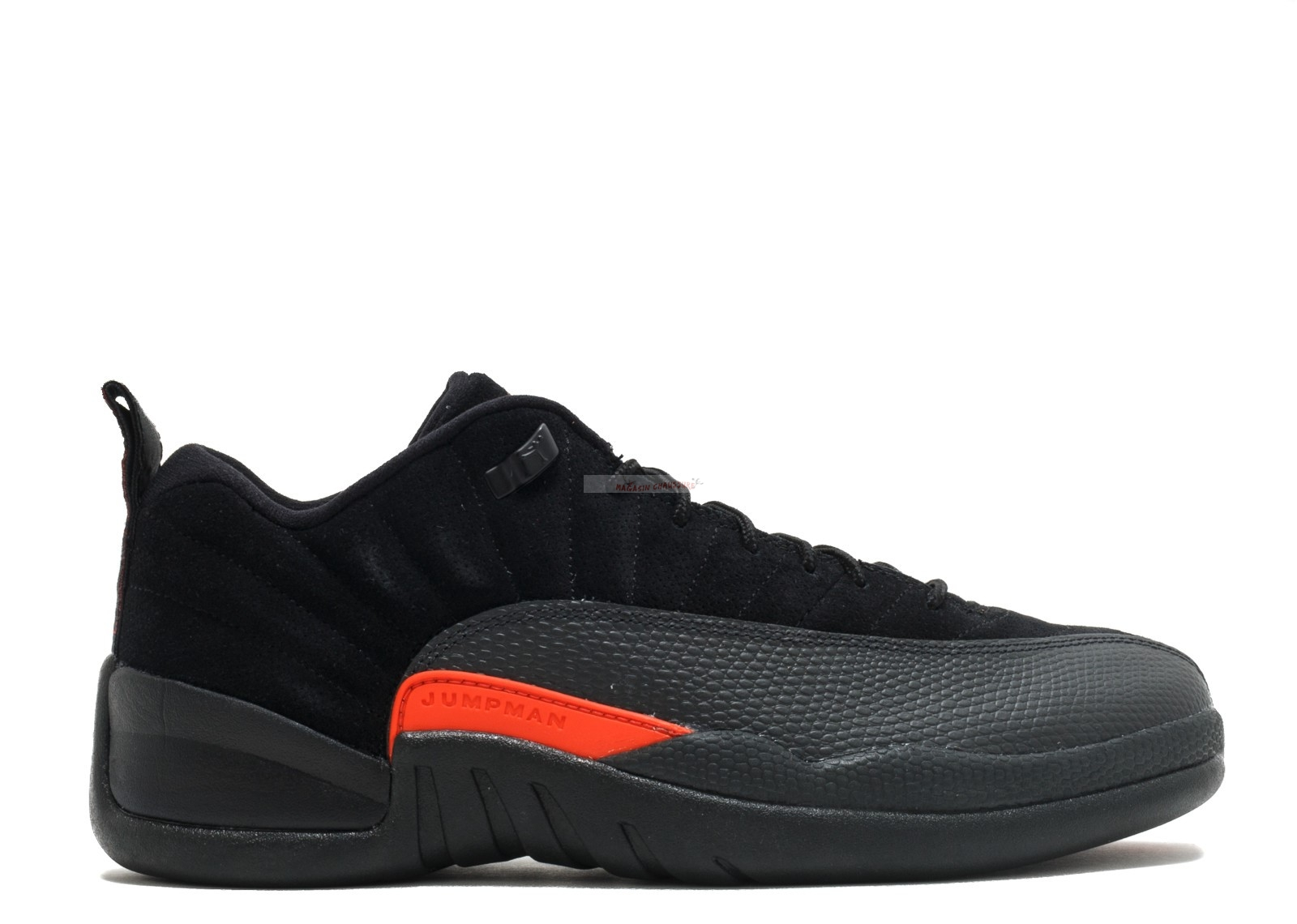 "Air Jordan 12 Low Retro ""Max Orange"" Noir Orange (308317-003) Chaussure de Basket"