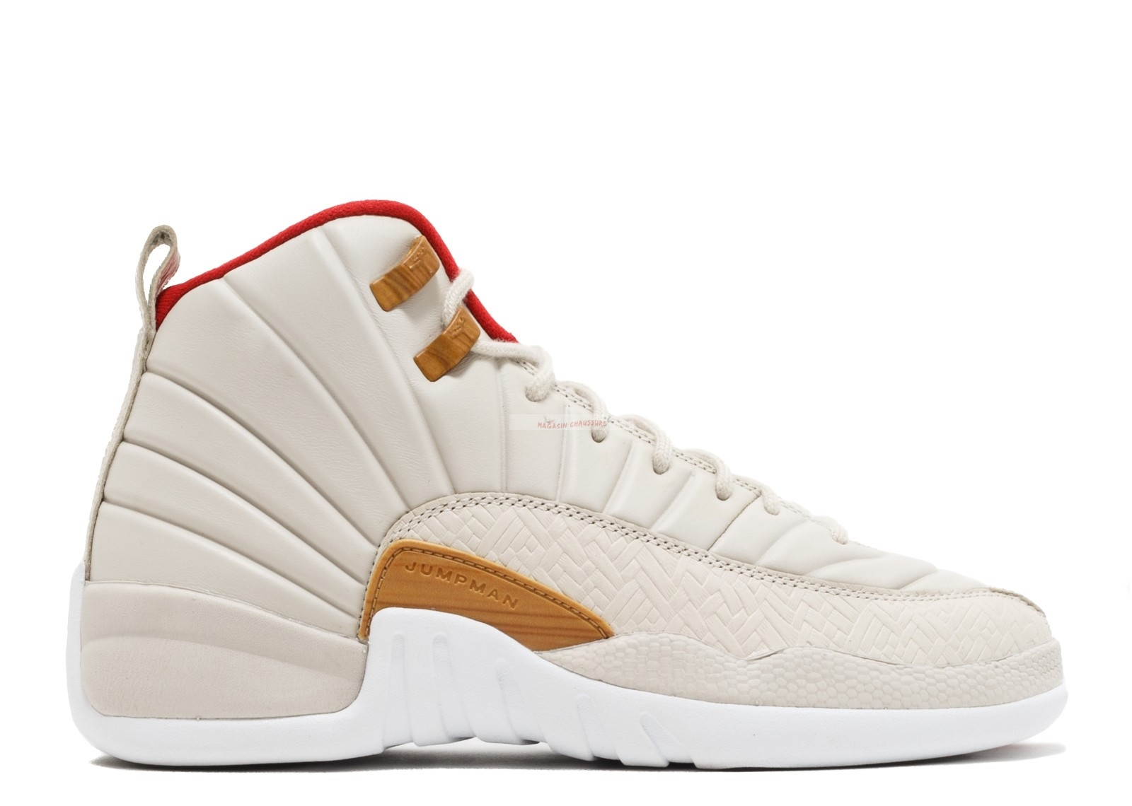 "Air Jordan 12 Retro Cny Gg (Gs) ""Chinese New Year"" Beige (881428-142) Chaussure de Basket"