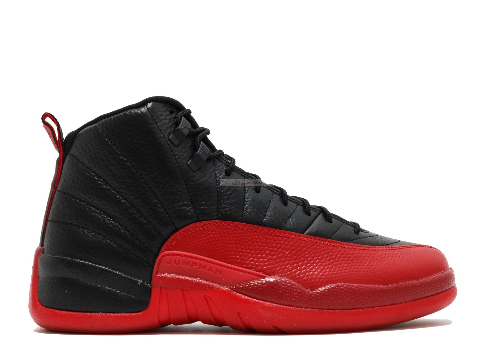 "Air Jordan 12 Retro ""Flu Game 2016 Release"" Noir Rouge (130690-002) Chaussure de Basket"