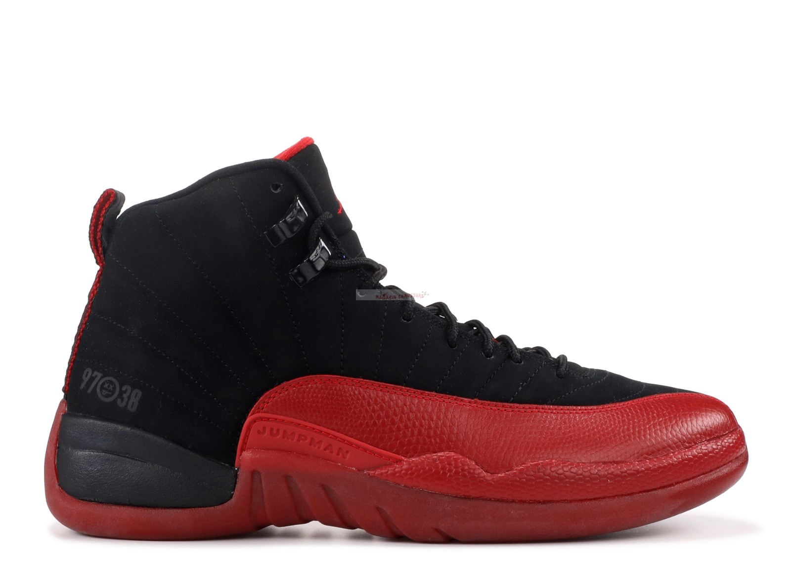 "Air Jordan 12 Retro ""Flu Game"" Noir Rouge (130690-065) Chaussure de Basket"