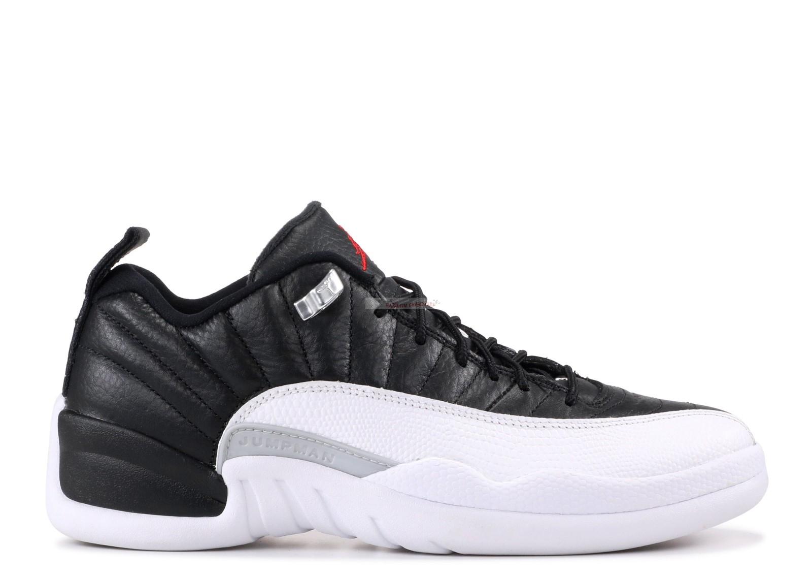 "Air Jordan 12 Retro Low ""Playoff"" Noir Blanc (308317-004) Chaussure de Basket"