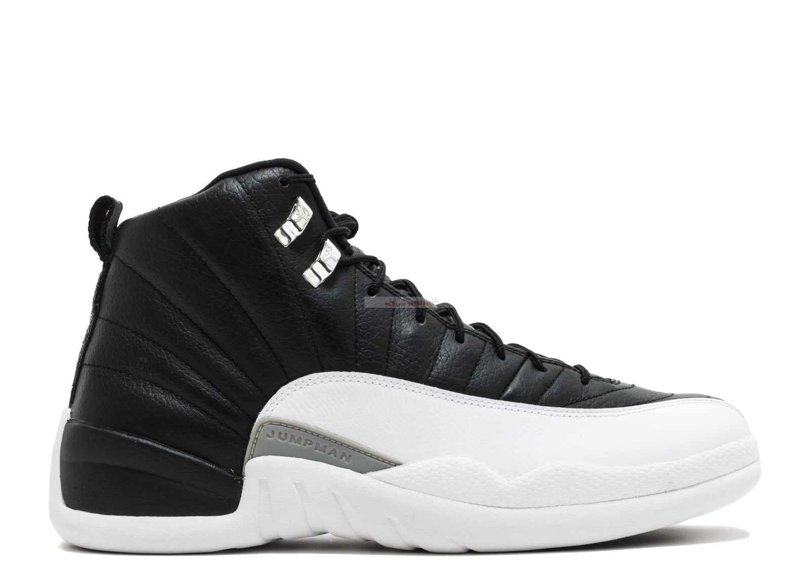 "Air Jordan 12 Retro ""Playoff 2012 Release"" Noir Blanc (130690-001) Chaussure de Basket"