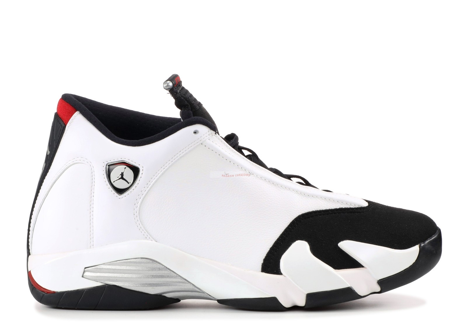 "Air Jordan 14 Retro ""Black Toe"" Blanc Noir (487471-102) Chaussure de Basket"