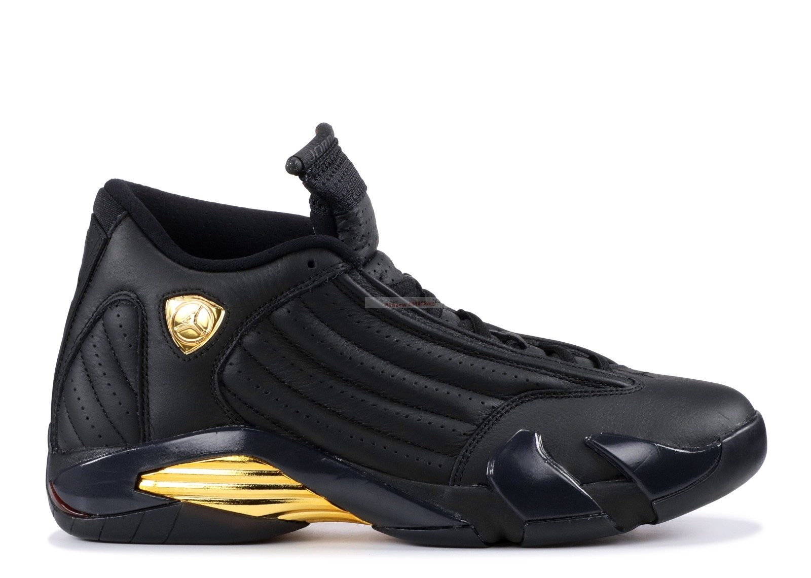 "Air Jordan 14 Retro ""Defining Moments"" Noir Or (487471-022) Chaussure de Basket"