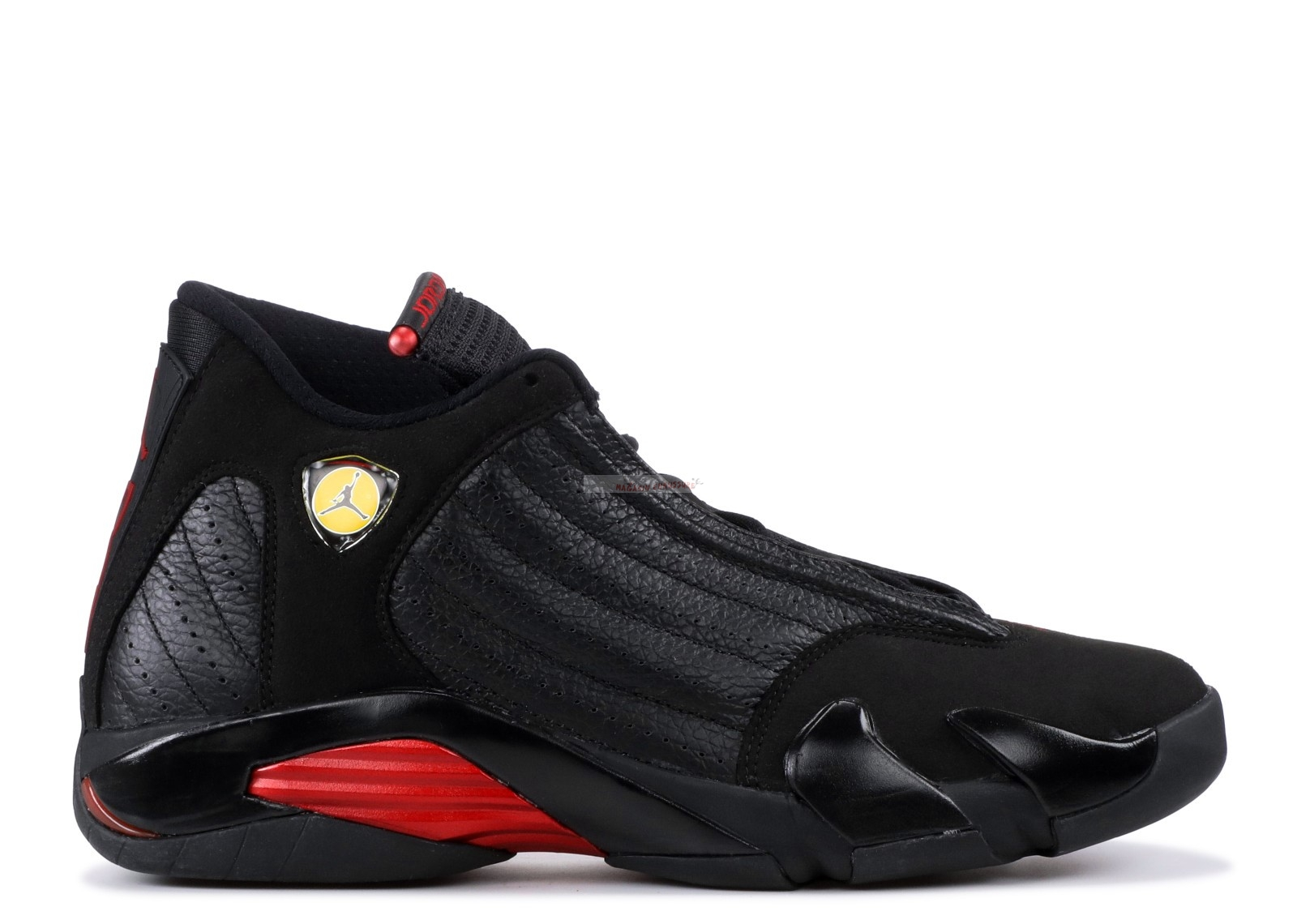"Air Jordan 14 Retro ""Last Shot 2011 Release"" Noir Rouge (311832-010) Chaussure de Basket"