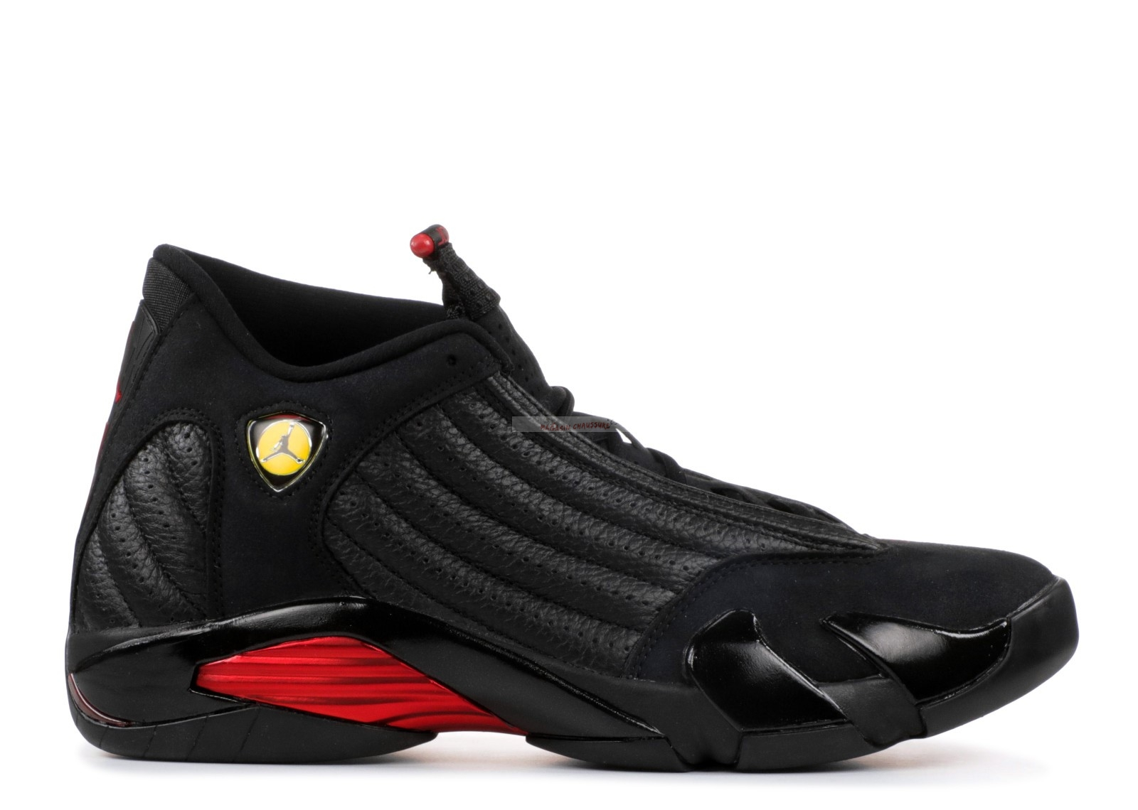 "Air Jordan 14 Retro ""Last Shot 2018 Release"" Noir Rouge (487471-003) Chaussure de Basket"