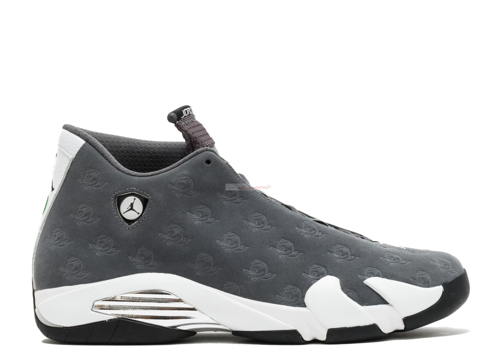 "Air Jordan 14 Retro ""Oregon Ducks"" Gris Blanc (fa14mnjdls779625850) Chaussure de Basket"
