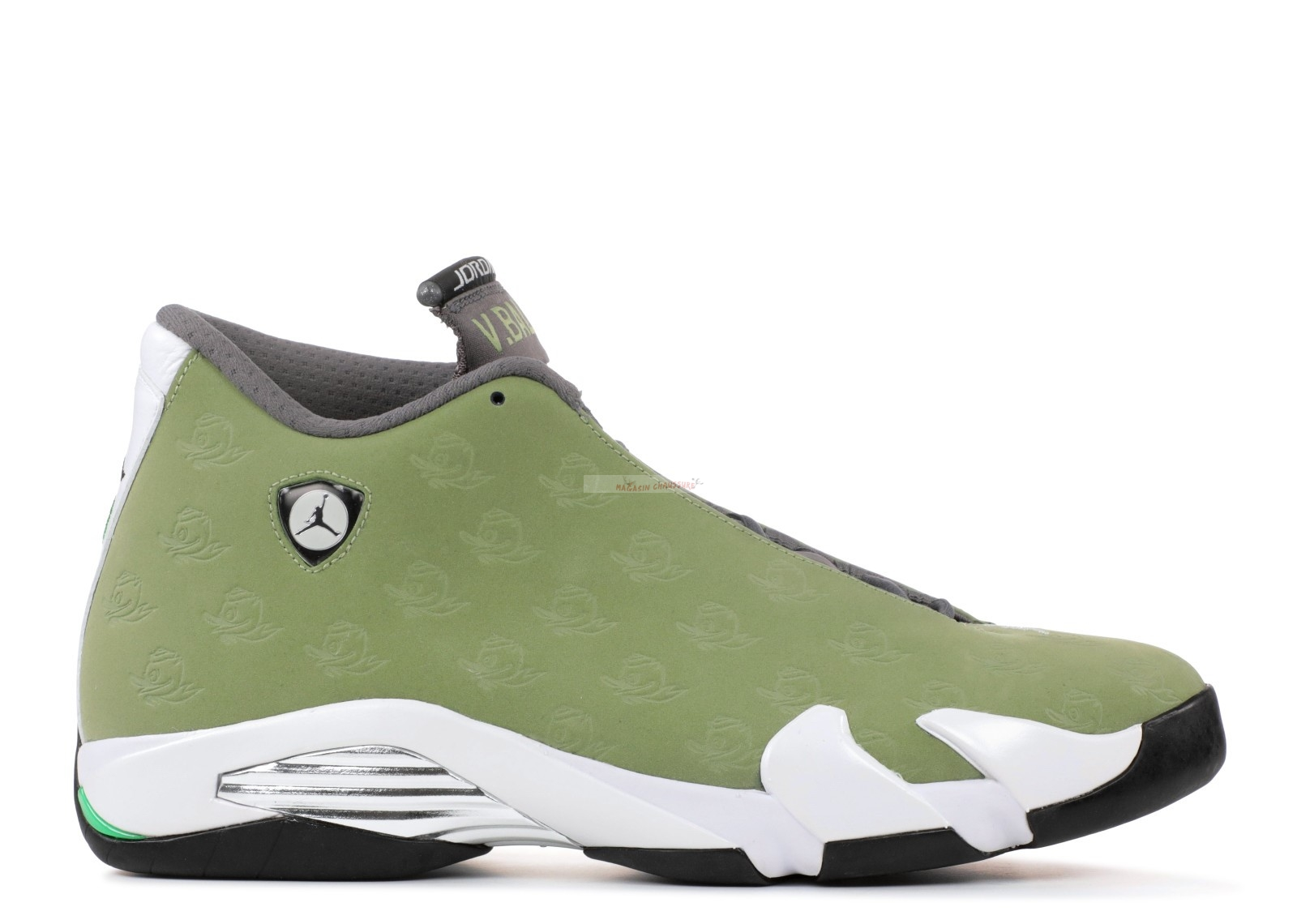 "Air Jordan 14 Retro ""Oregon ""Volleyball"""" Vert (aj14-662021) Chaussure de Basket"