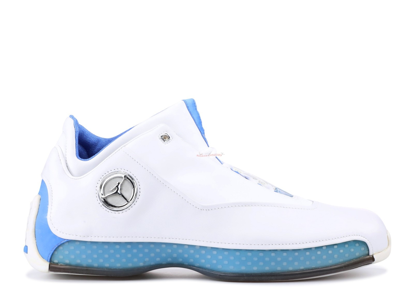 Air Jordan 18 Low Blanc Bleu (306151-104) Chaussure de Basket