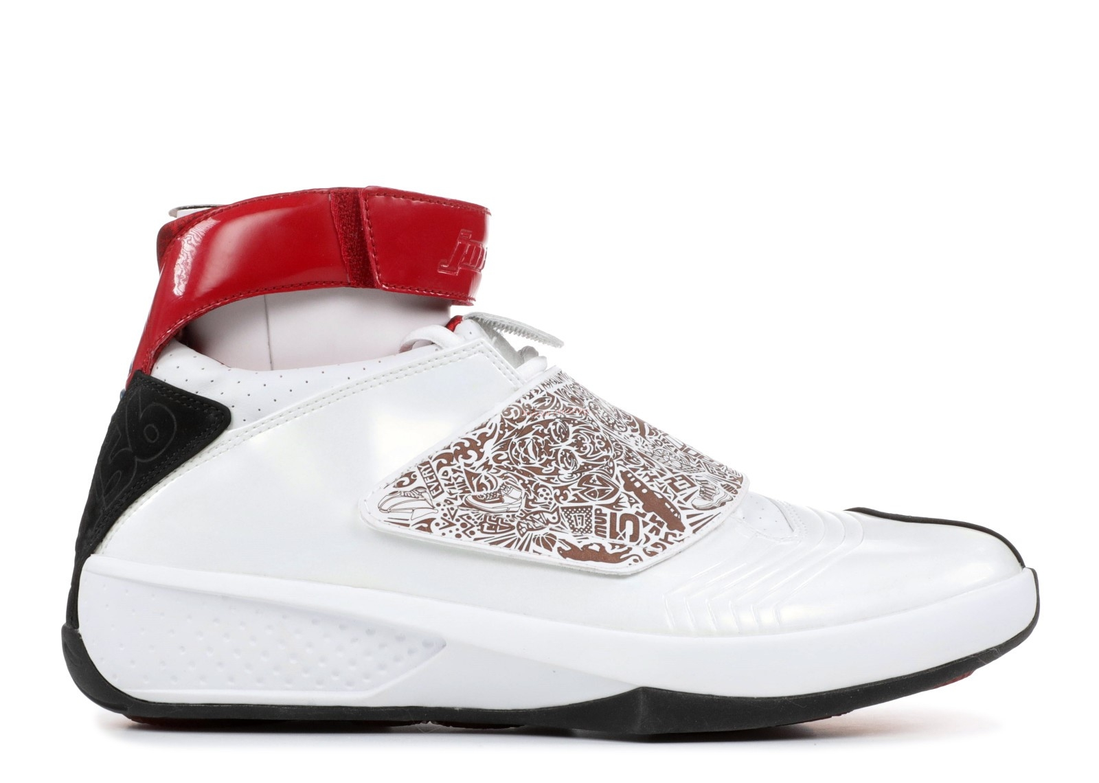 Air Jordan 20 Blanc Rouge (310455-161) Chaussure de Basket