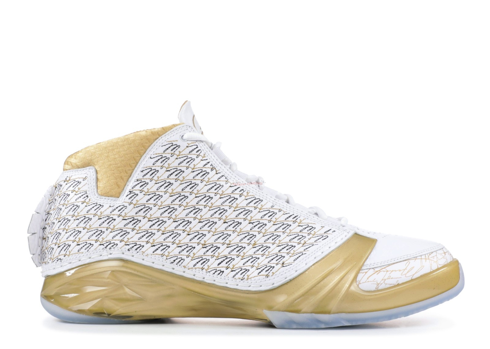 Air Jordan 23 Trophy Room Blanc Or (853336-123) Chaussure de Basket