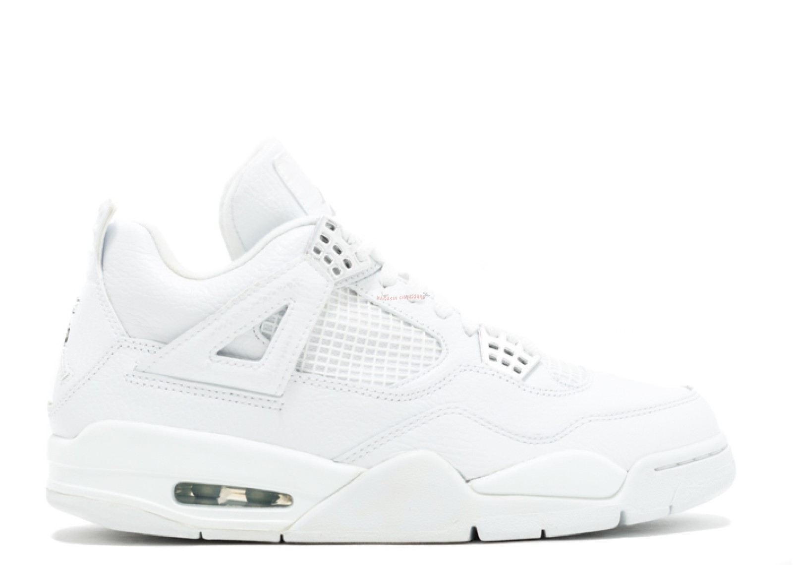 "Air Jordan 4 Gs Retro ""Pure"" Blanc (408452-100) Chaussure de Basket"
