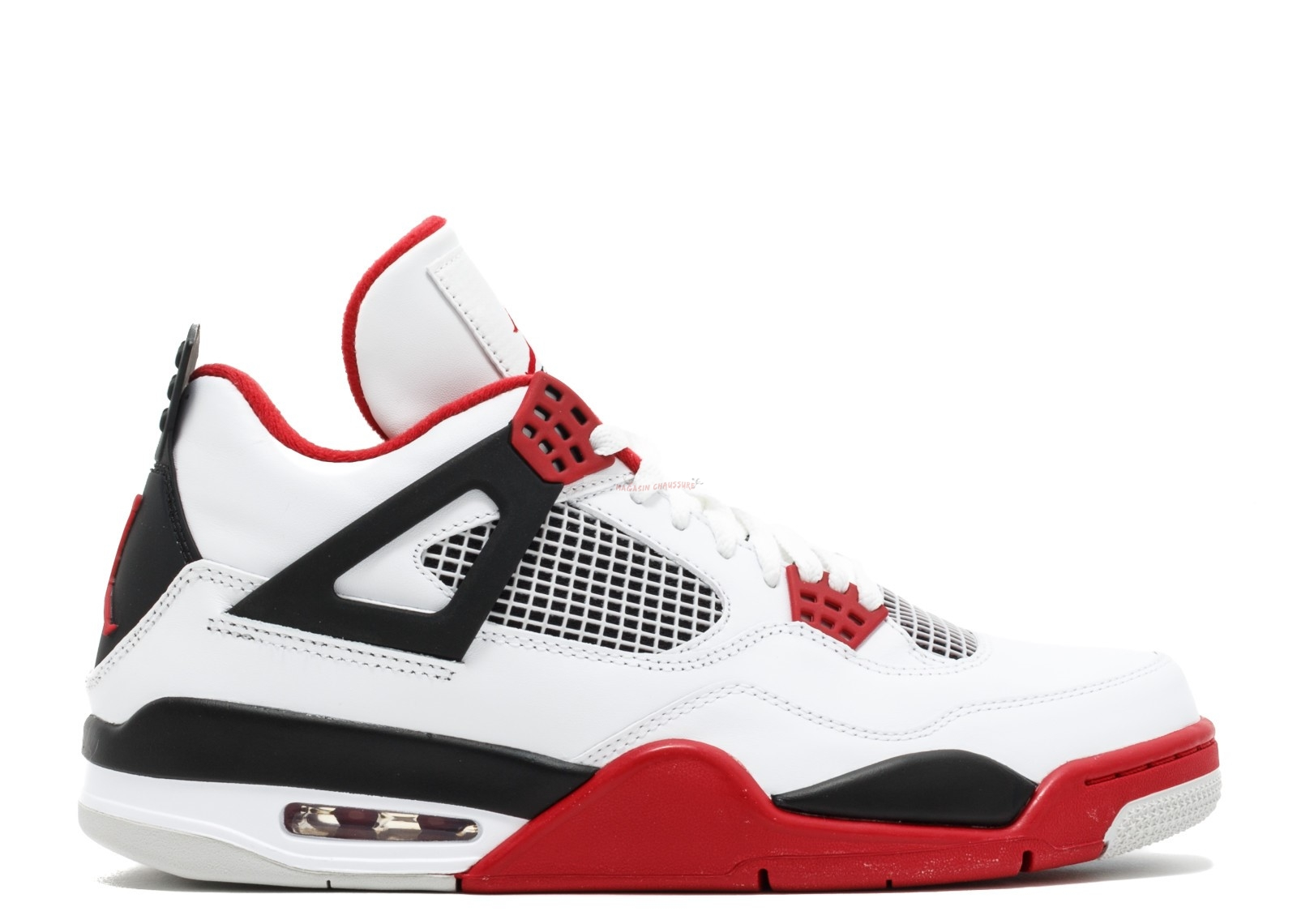 "Air Jordan 4 Retro ""2012 Release"" Blanc Rouge (308497-110) Chaussure de Basket"
