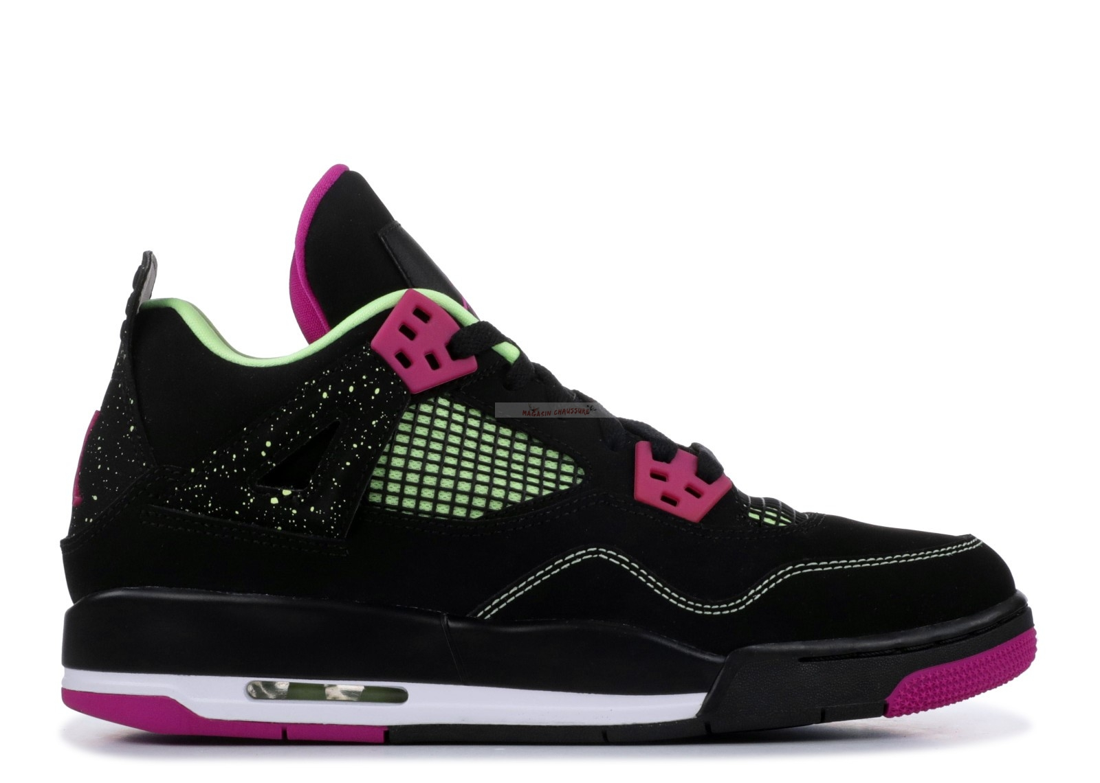 "Air Jordan 4 Retro 30Th (Gs) ""Fuchsia"" Noir Rose (705344-027) Chaussure de Basket"