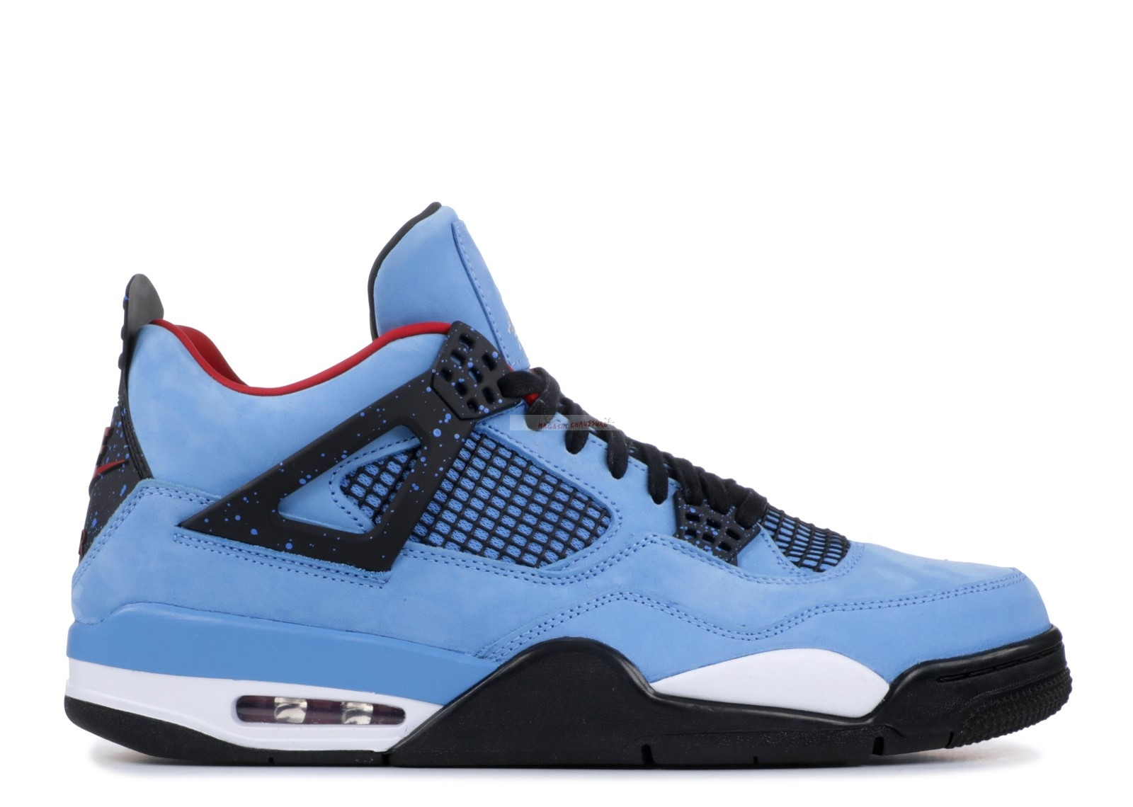 "Air Jordan 4 Retro ""Cactus Jack Friends And Family"" Bleu (aj4-765007) Chaussure de Basket"