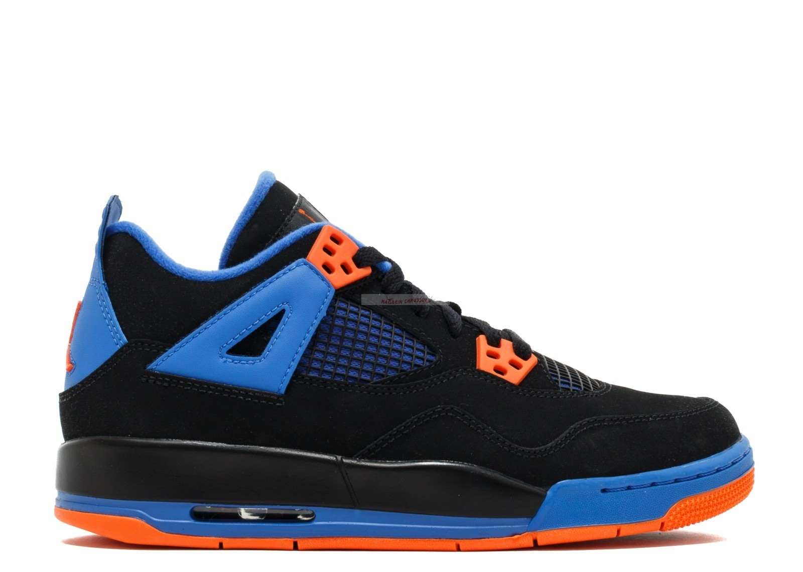 "Air Jordan 4 Retro (Gs) ""Cavs"" Noir Orange Bleu (408452-027) Chaussure de Basket"