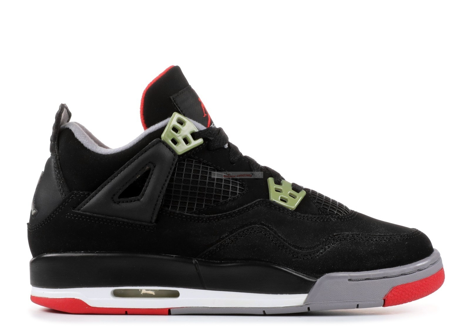 "Air Jordan 4 Retro (Gs) ""Countdown Pack"" Noir Rouge Blanc (308498-003) Chaussure de Basket"