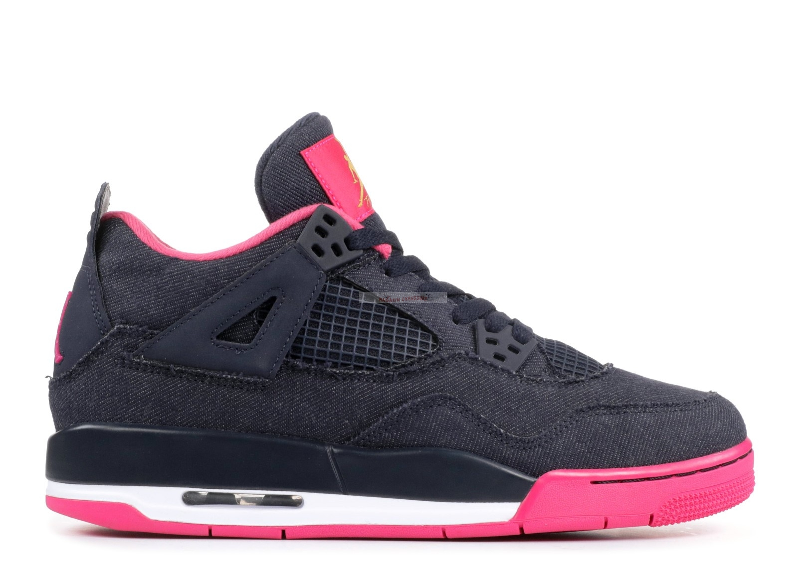 "Air Jordan 4 Retro (Gs) ""Denim"" Noir Rose (487724-408) Chaussure de Basket"