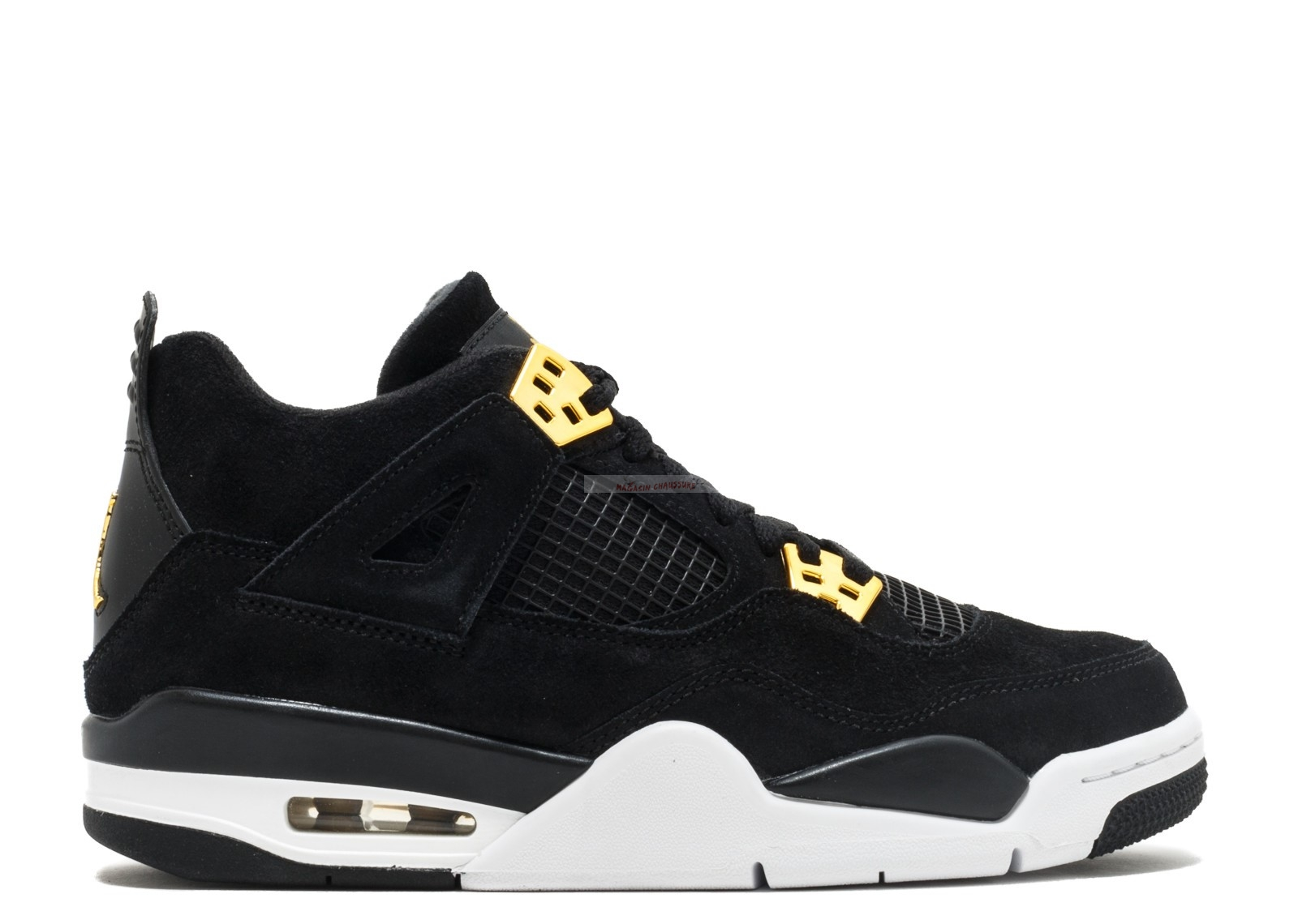 "Air Jordan 4 Retro (Gs) ""Royalty"" Noir Or (408452-032) Chaussure de Basket"