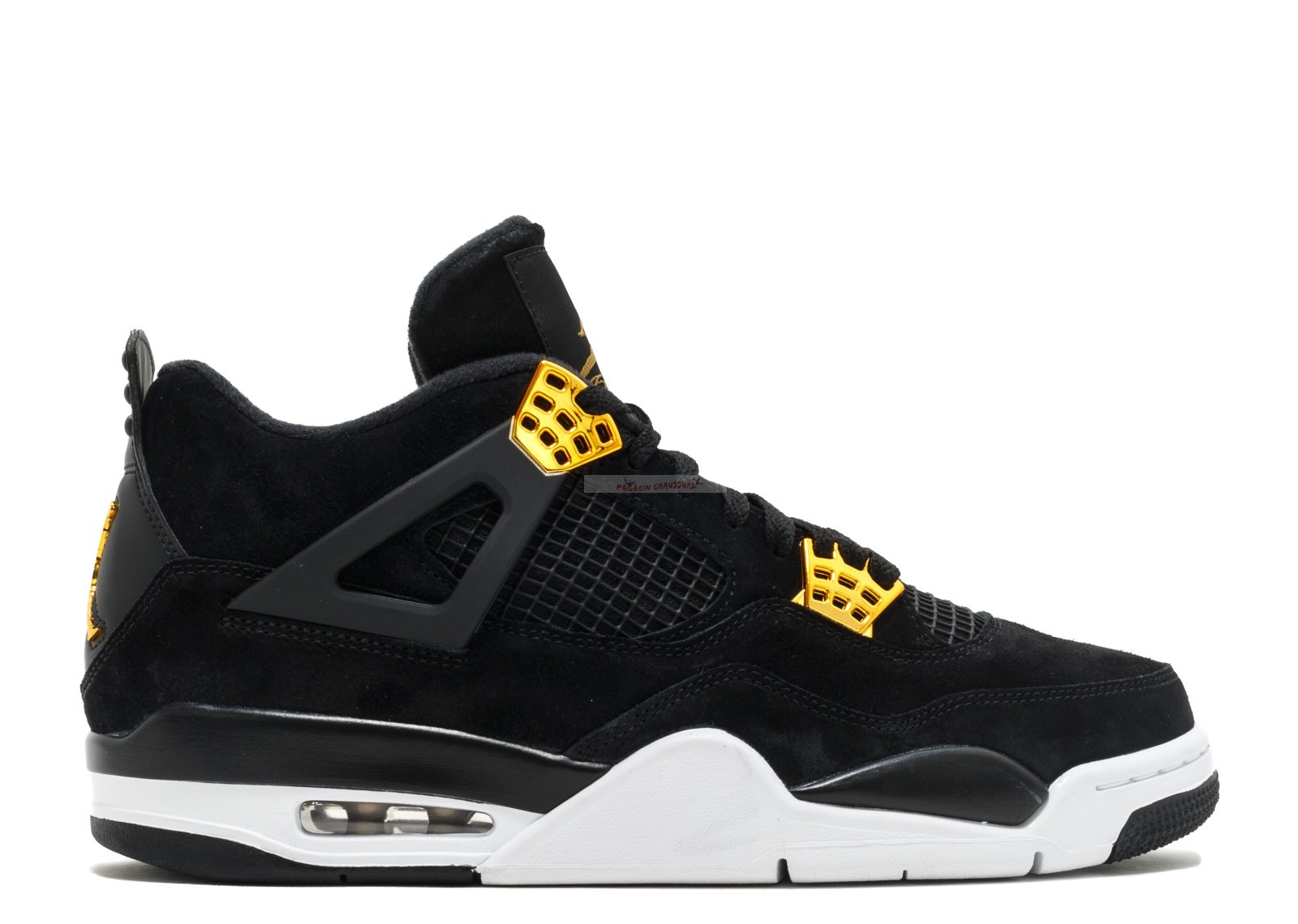 "Air Jordan 4 Retro ""Royalty"" Noir Or (308497-032) Chaussure de Basket"