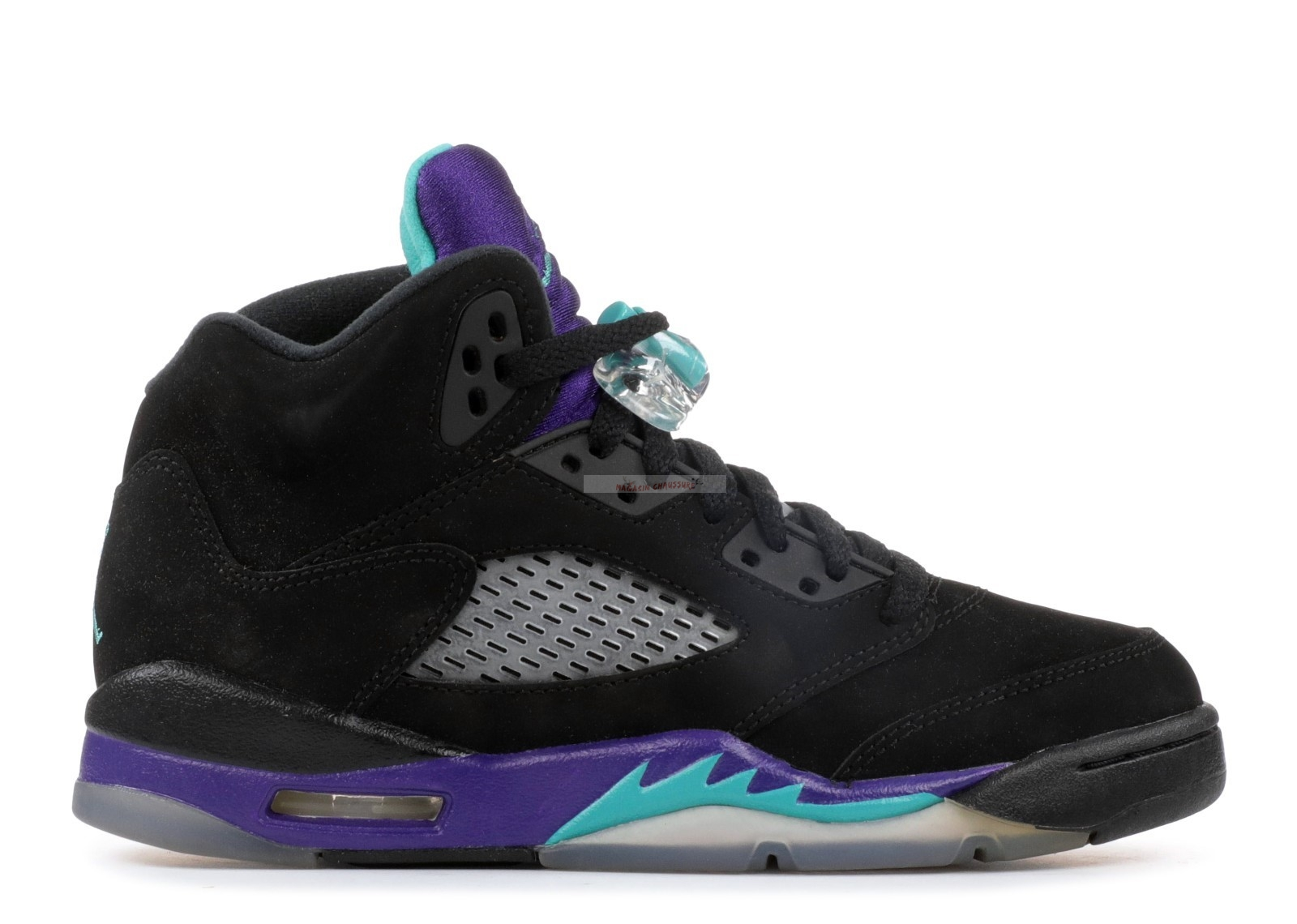 "Air Jordan 5 Retro (Gs) ""Black Grape"" Noir Pourpre (440888-007) Chaussure de Basket"