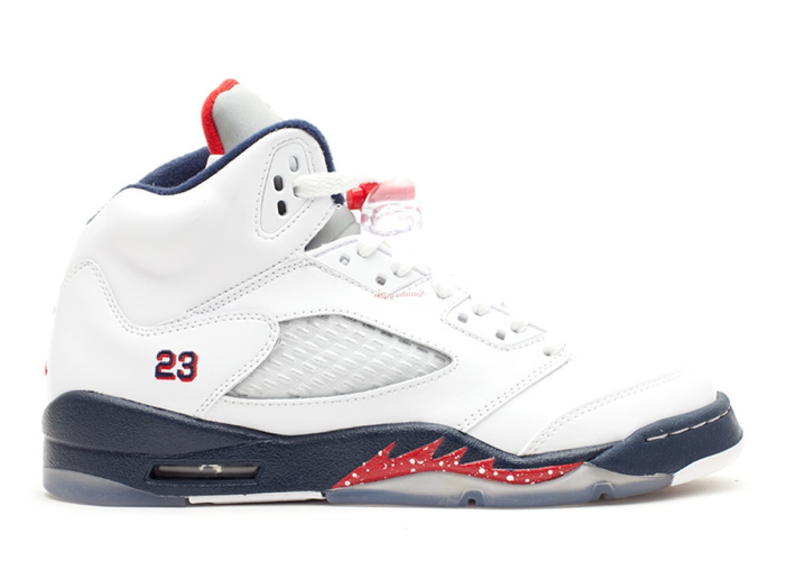 "Air Jordan 5 Retro (Gs) ""Olympic"" Blanc Marine (440888-103) Chaussure de Basket"