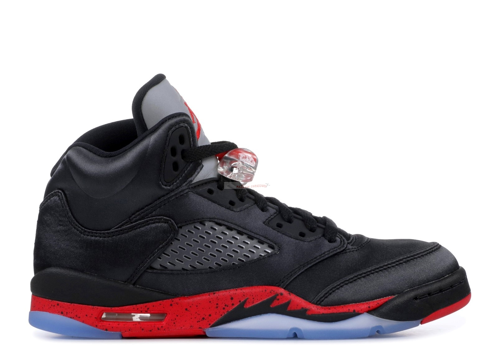 "Air Jordan 5 Retro (Gs) ""Satin"" Noir Rouge (440888-006) Chaussure de Basket"