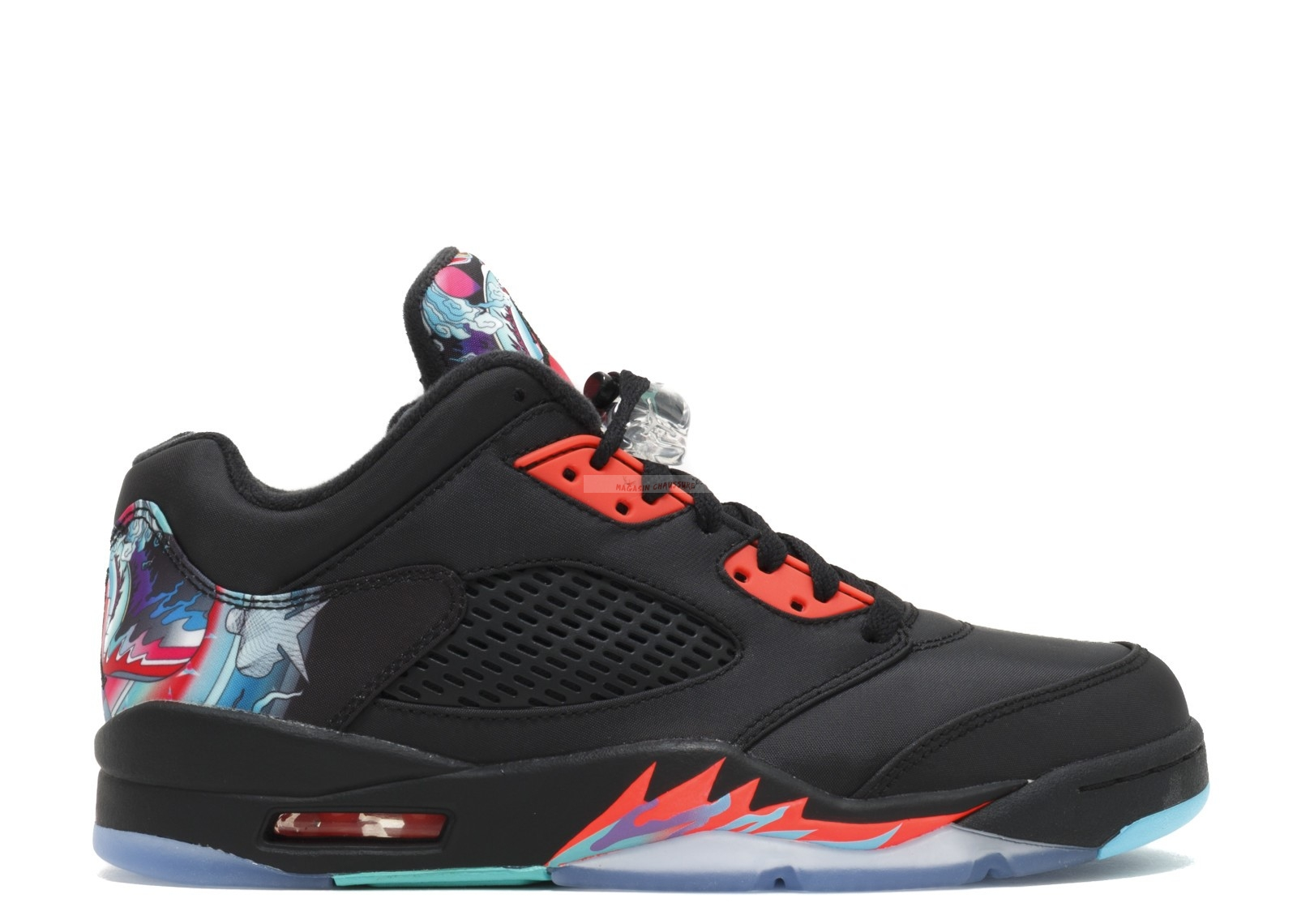 "Air Jordan 5 Retro Low Cny ""Chinese New Year"" Noir (840475-060) Chaussure de Basket"
