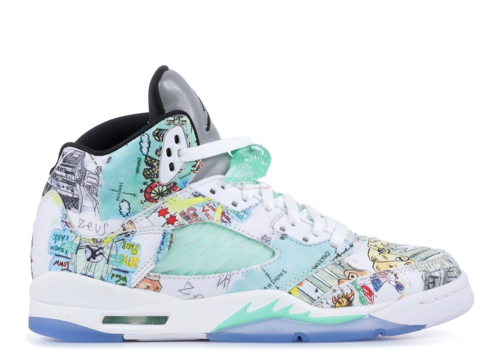 "Air Jordan 5 Wings (Gs) ""Wings"" Multicolore (av3663-900) Chaussure de Basket"