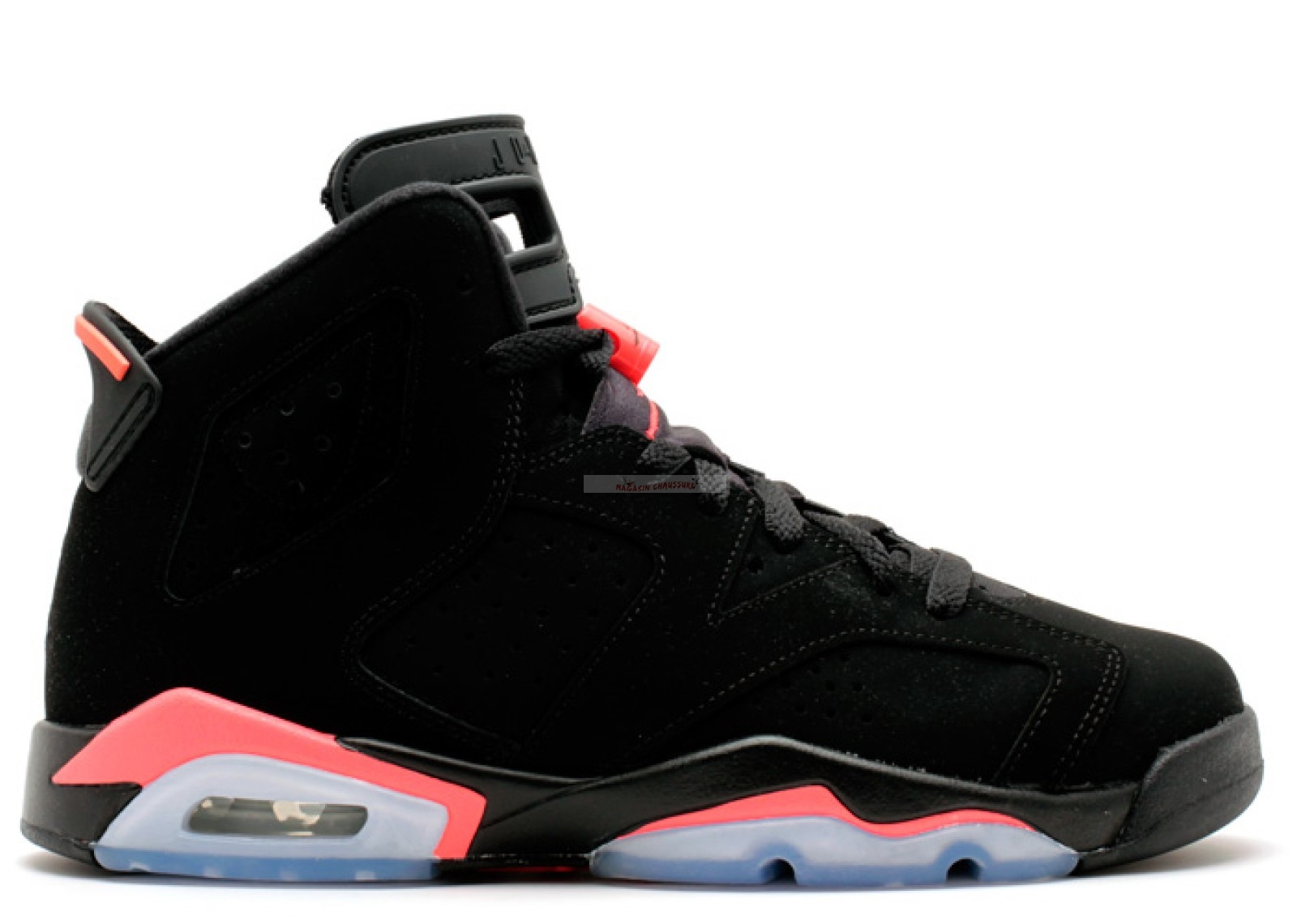 "Air Jordan 6 Retro (Gs) ""Infrared 2014"" Noir Rose (384665-023) Chaussure de Basket"