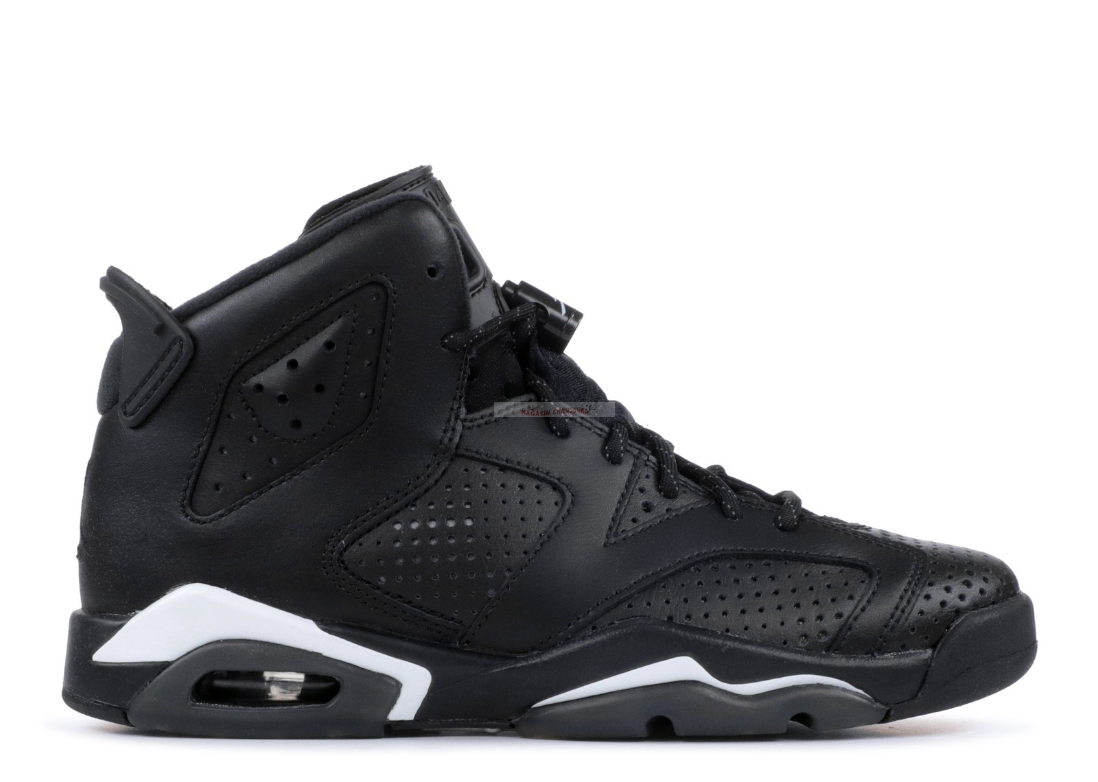 "Air Jordan 6 Retro (Gs) ""Noir Cat"" Noir (384665-02) Chaussure de Basket"