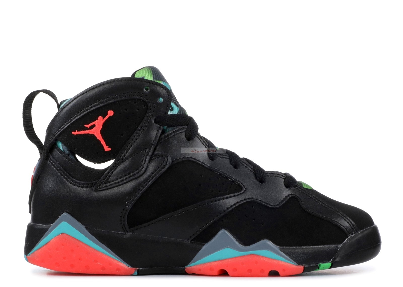 "Air Jordan 7 Retro 30Th (Gs) ""Barcelona Nights"" Noir Rouge Vert (705412-007) Chaussure de Basket"