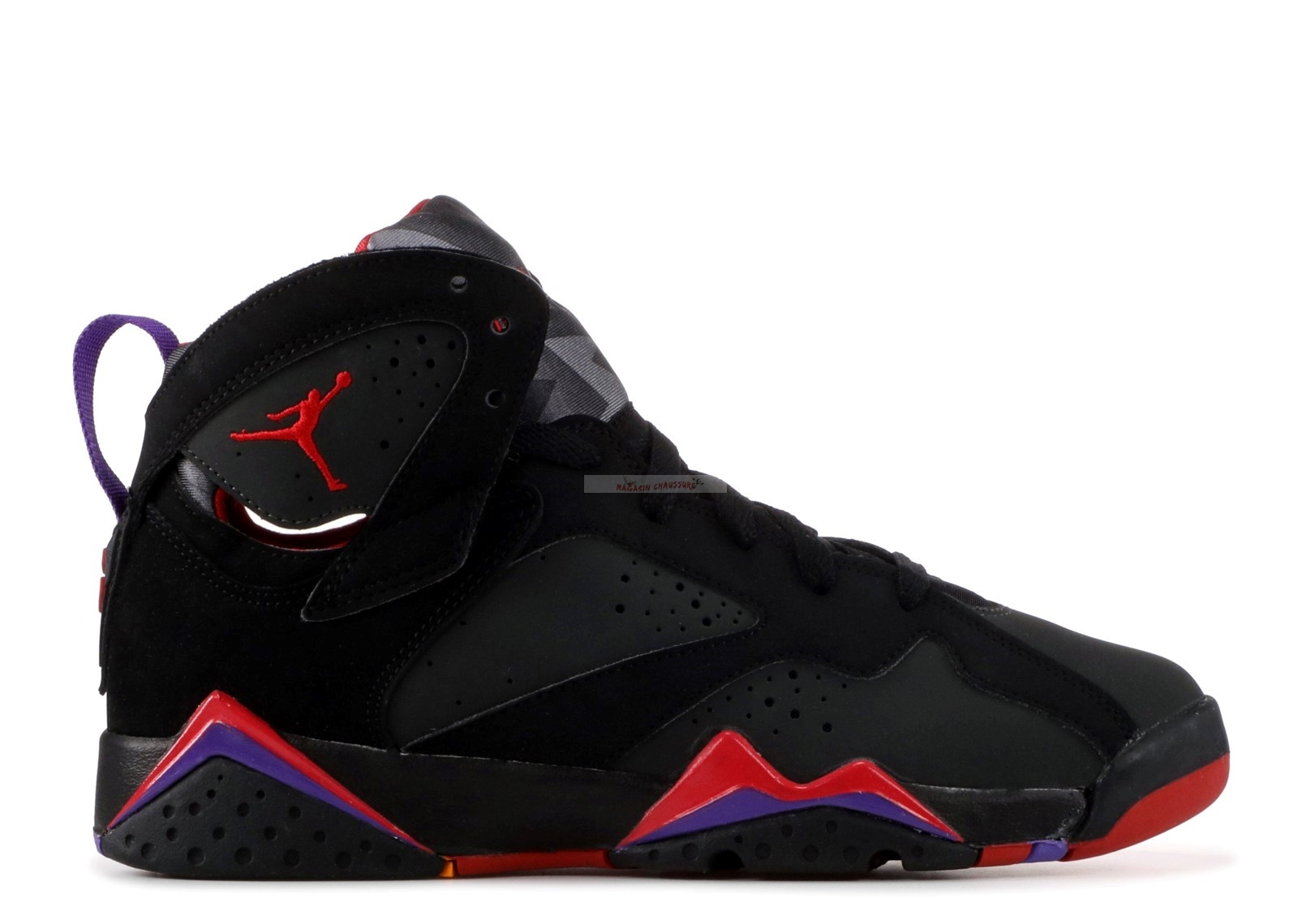 "Air Jordan 7 Retro (Gs) ""Defining Moments"" Noir Rouge (304774-041) Chaussure de Basket"