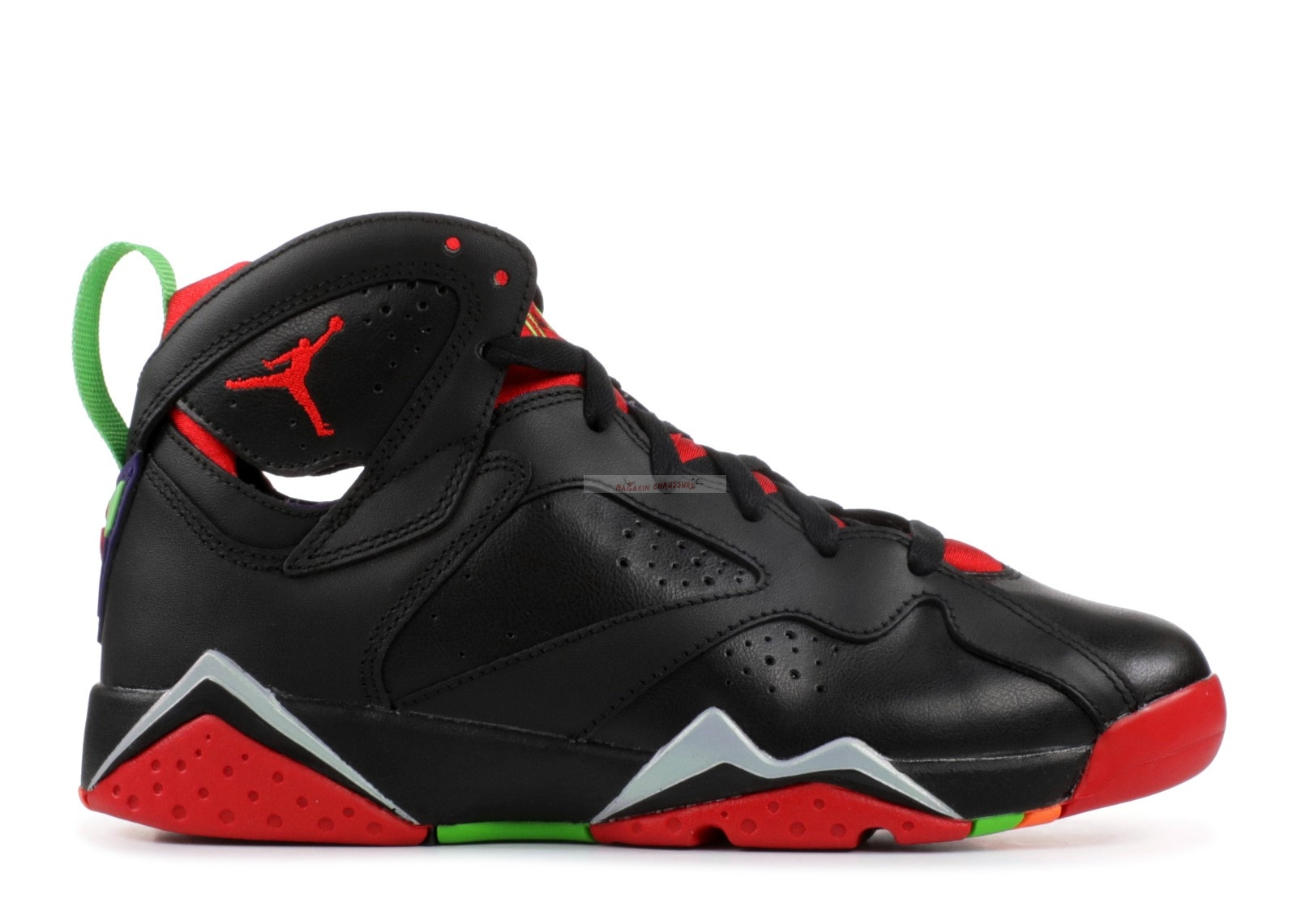 "Air Jordan 7 Retro (Gs) ""Marvin The Martian"" Noir Rouge (304774-029) Chaussure de Basket"