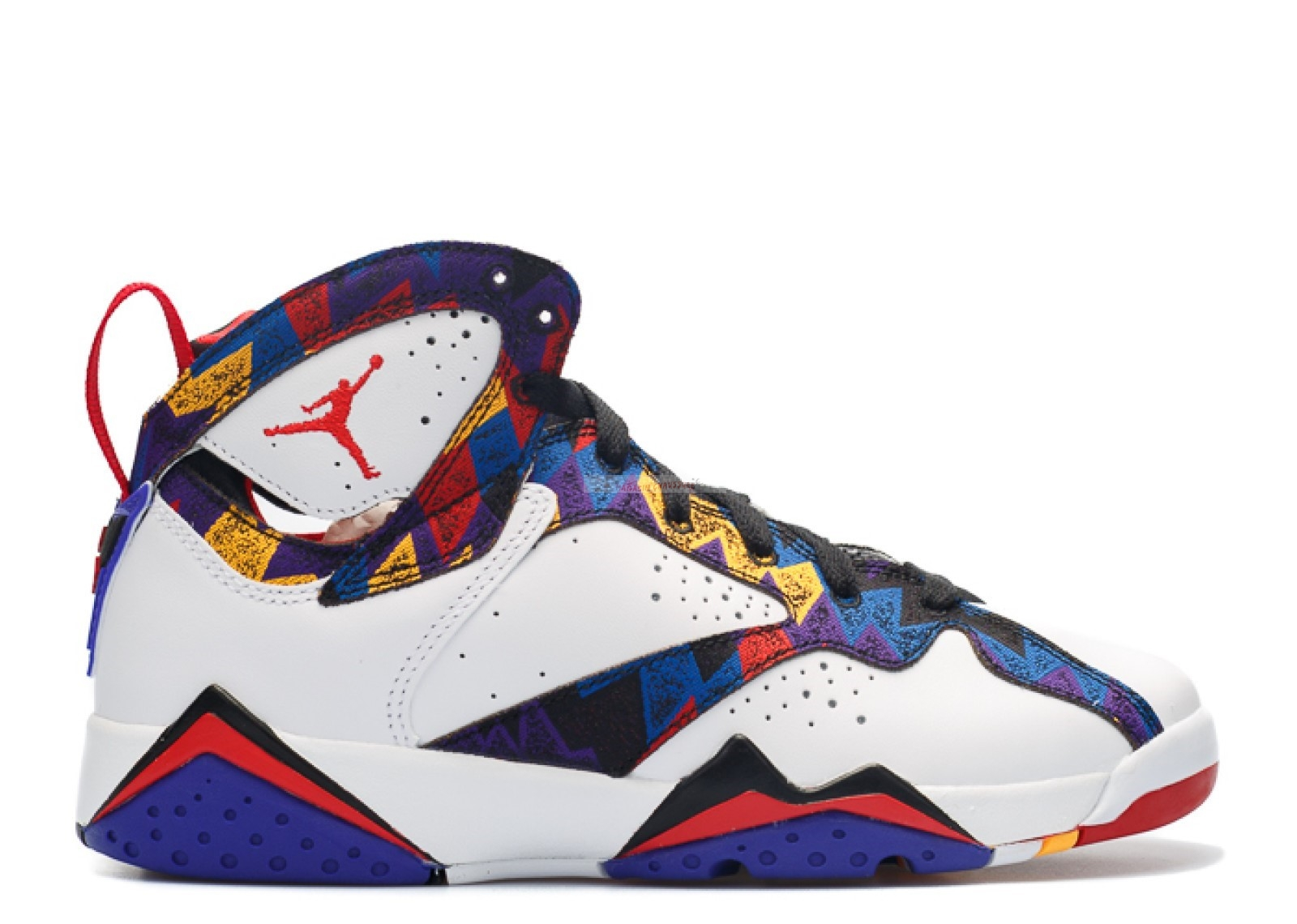 "Air Jordan 7 Retro (Gs) ""Nothing But Net"" Blanc Bleu Rouge (304774-142) Chaussure de Basket"